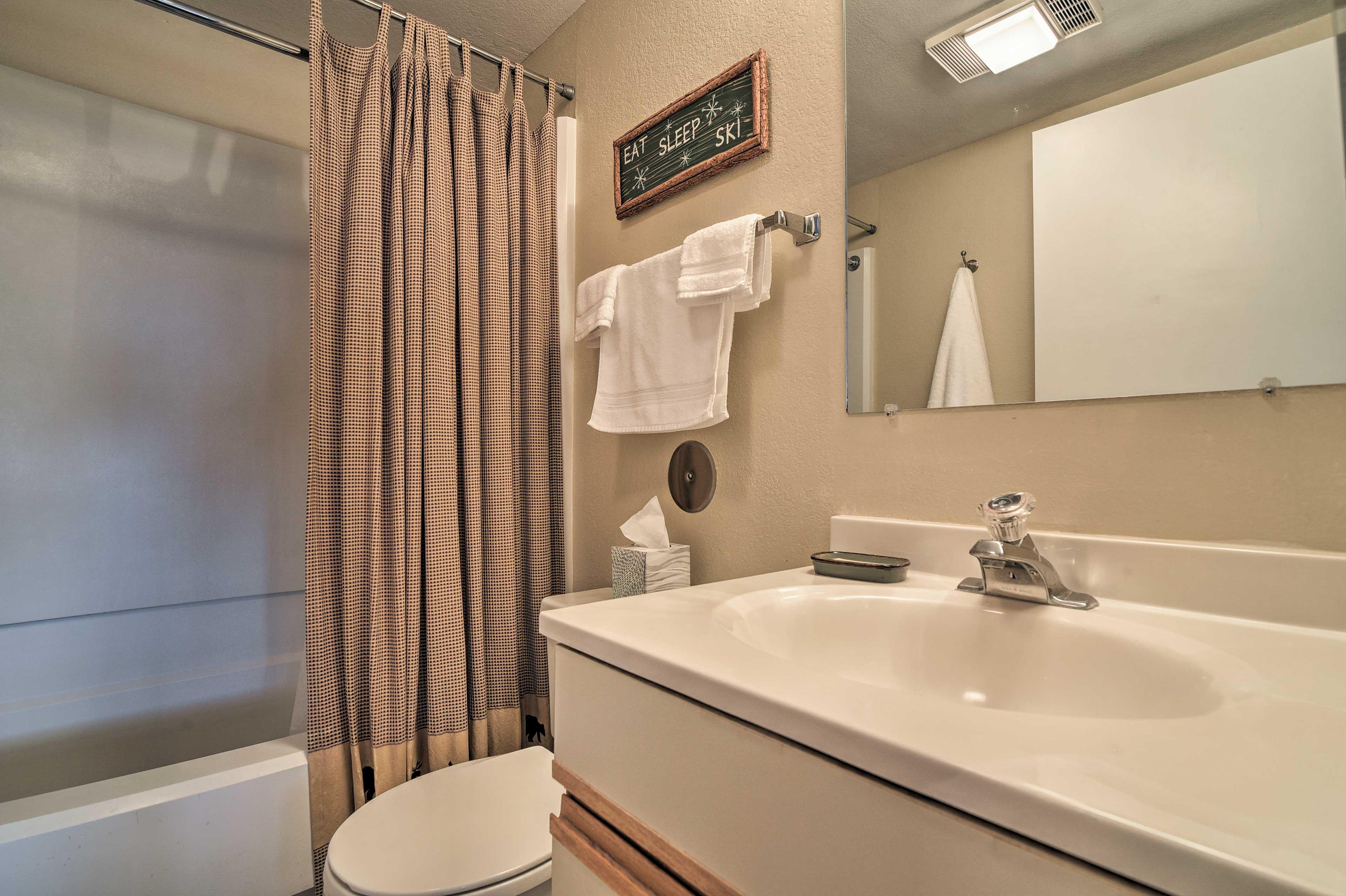 An en-suite bathroom adds convenience.