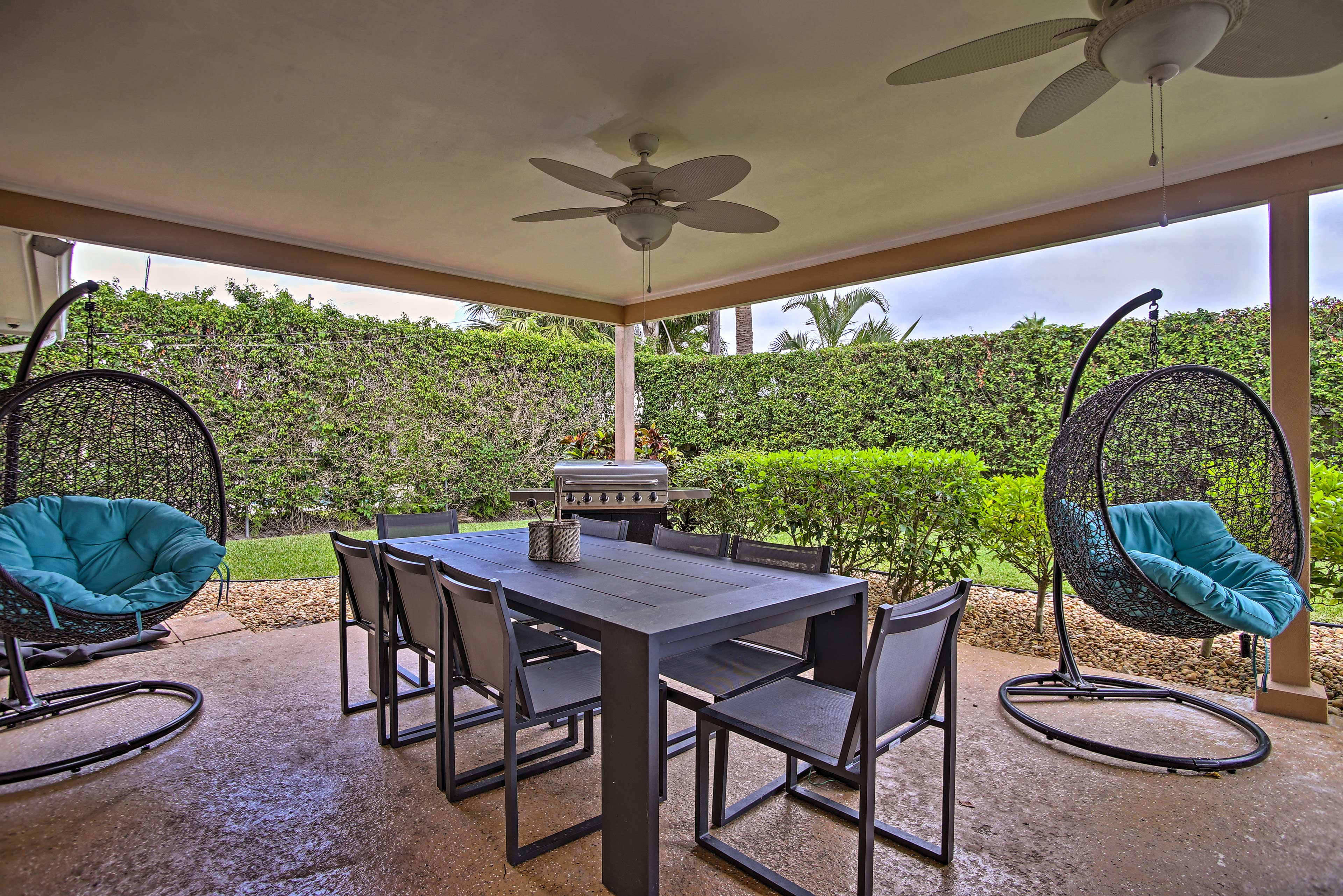 The furnished patio is the perfect place to relax!