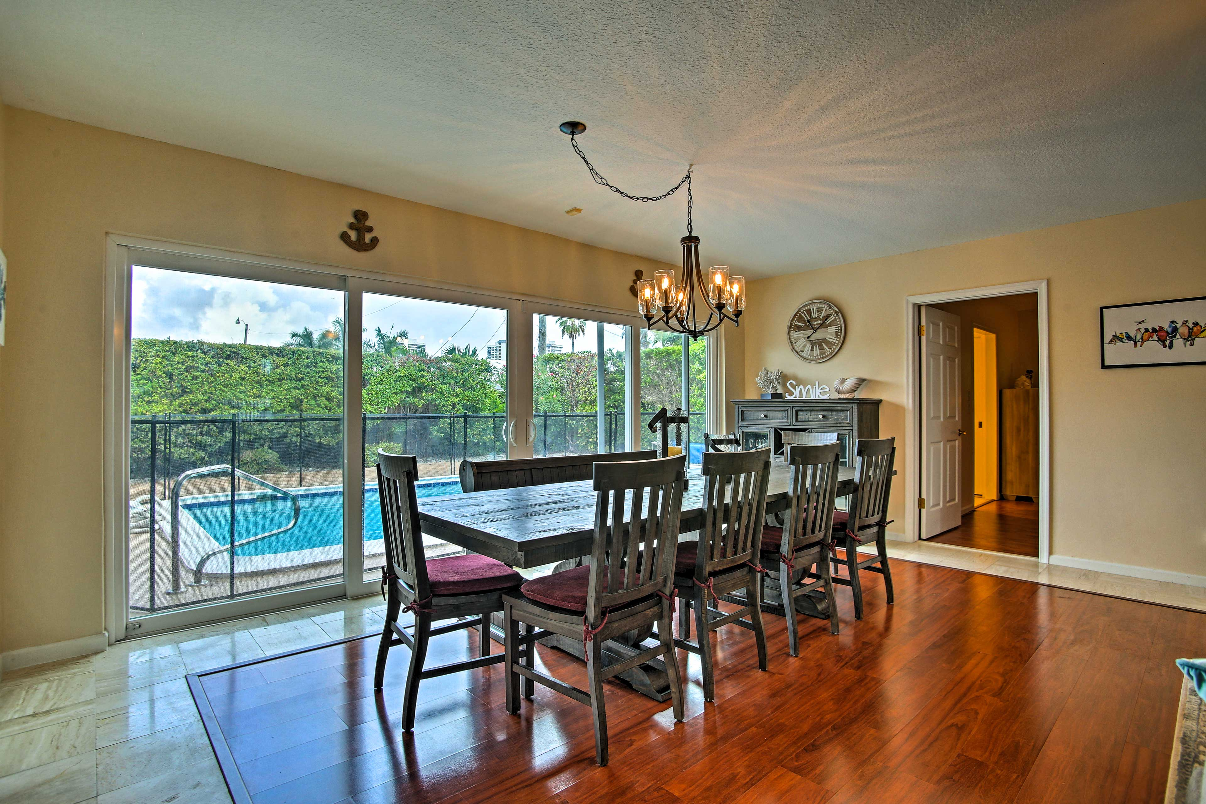 The large sliding-glass doors give off tons of natural light.
