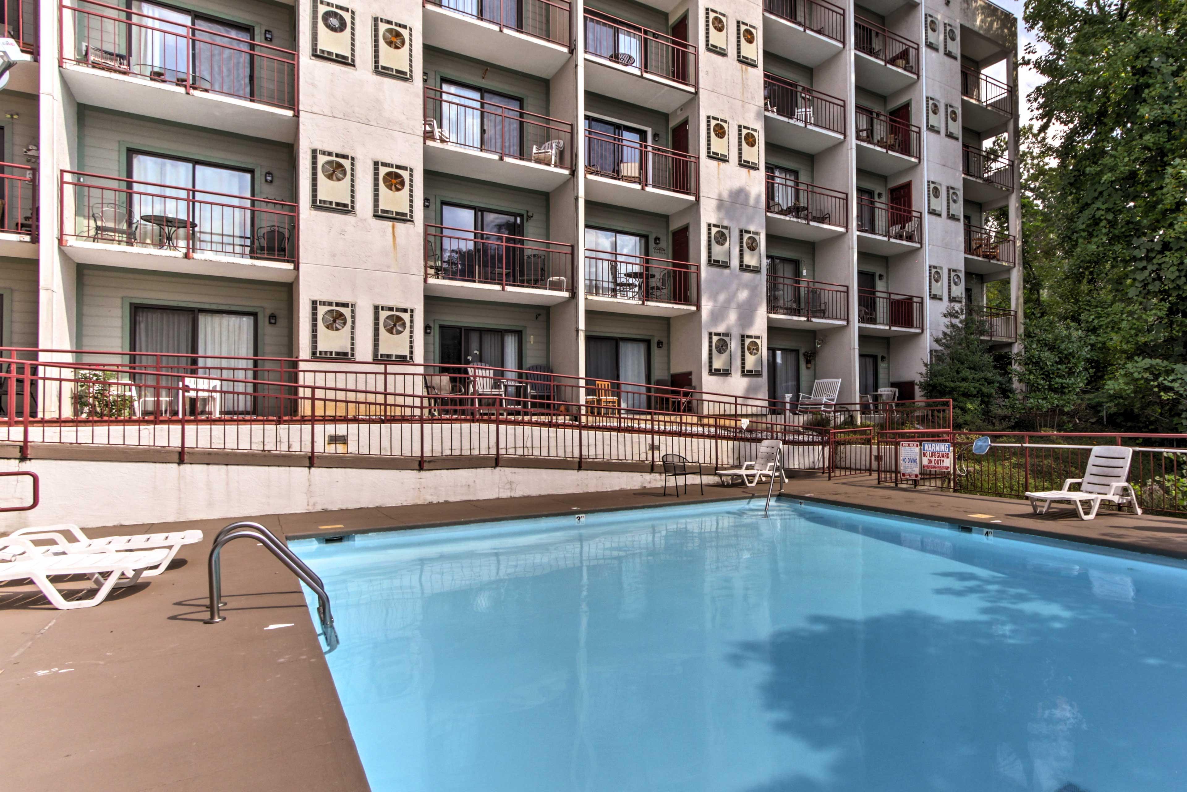 Enjoy access to the Laurel Inn Condos community pool.