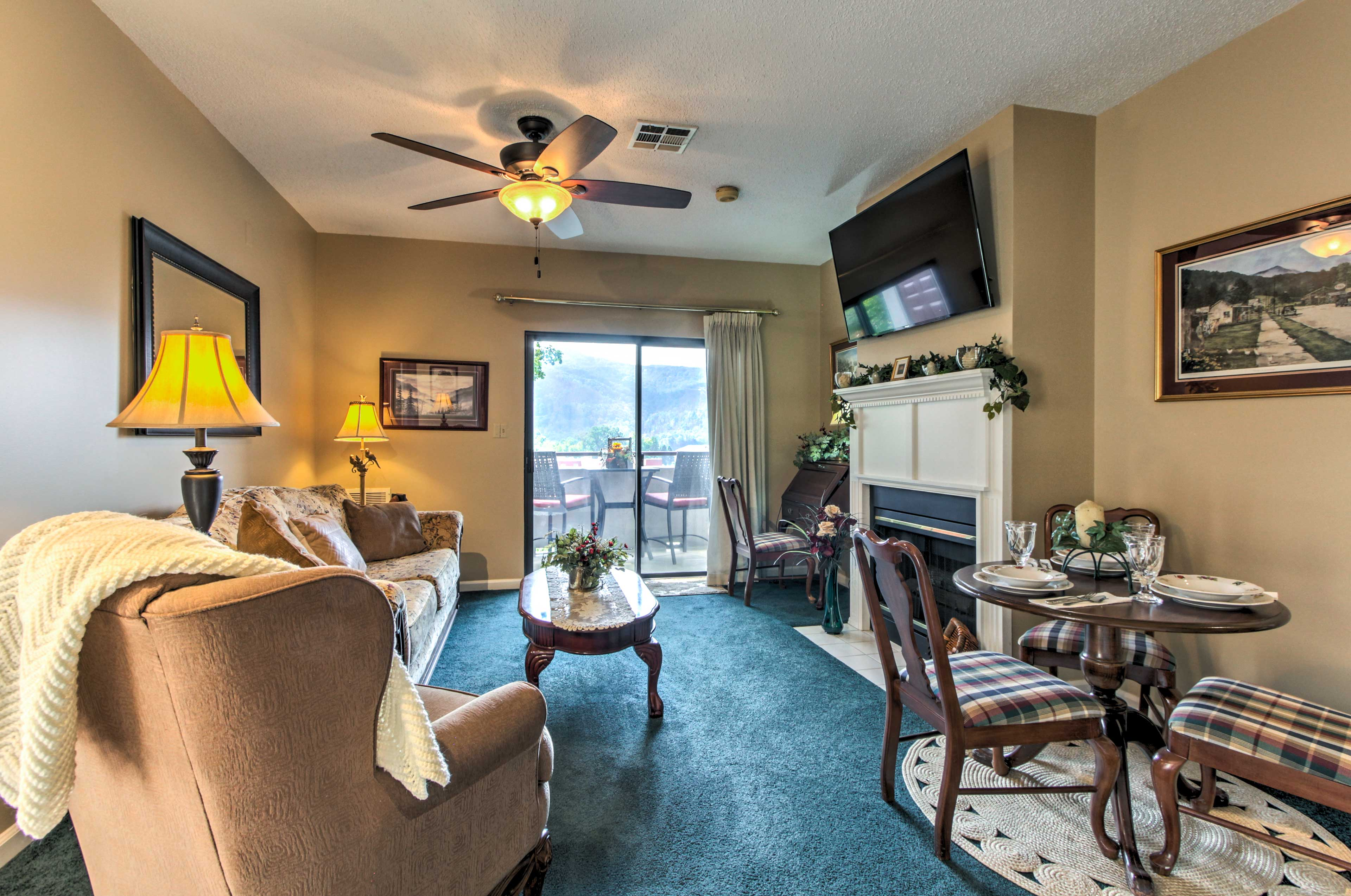 Unwind during downtime in the well-appointed living space.