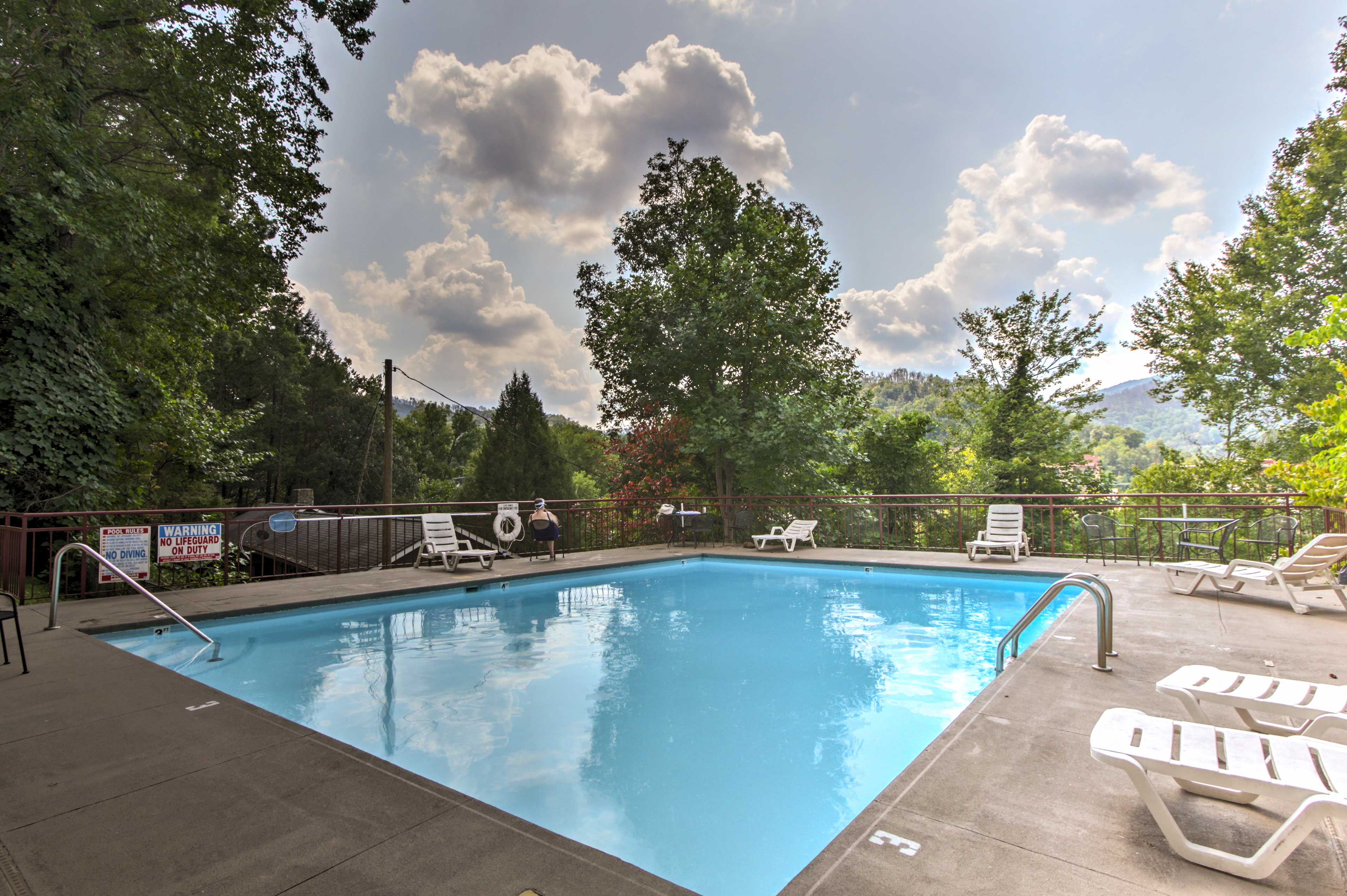 The pool is the perfect end to each fun-filled day.