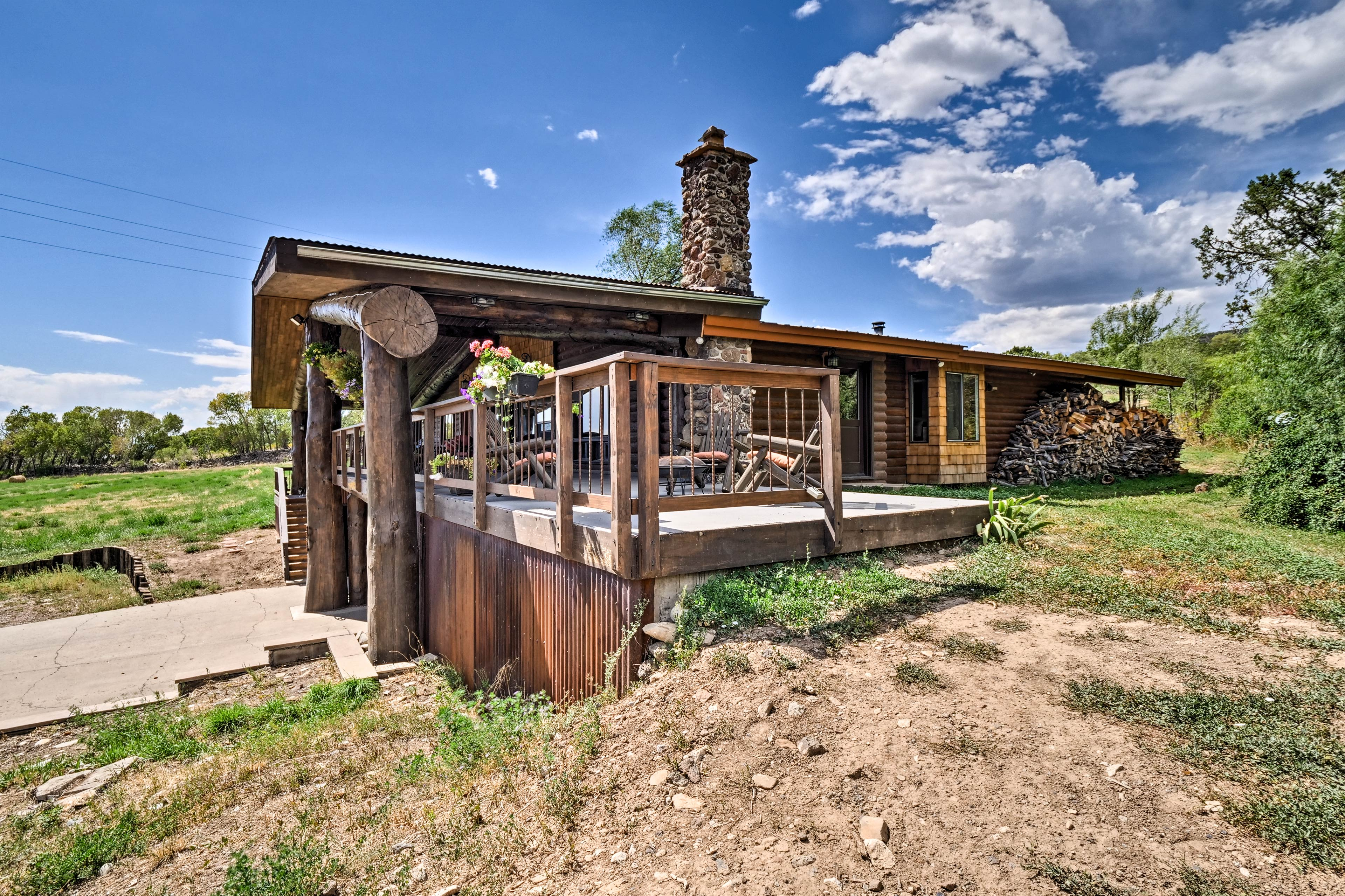 Your vacation rental apartment is part of the main house on a working farm.