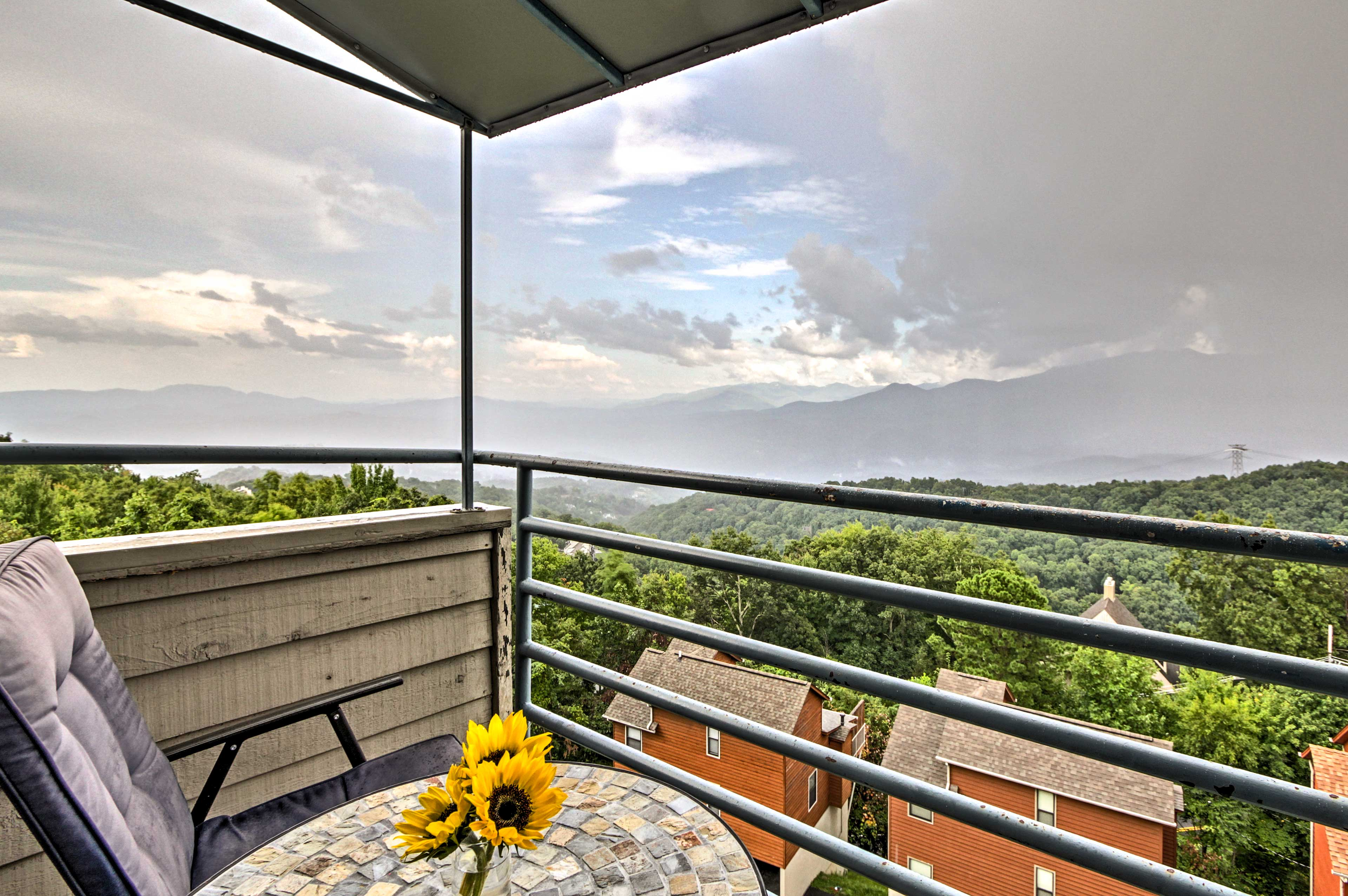 Sip your morning coffee out on the private balcony.