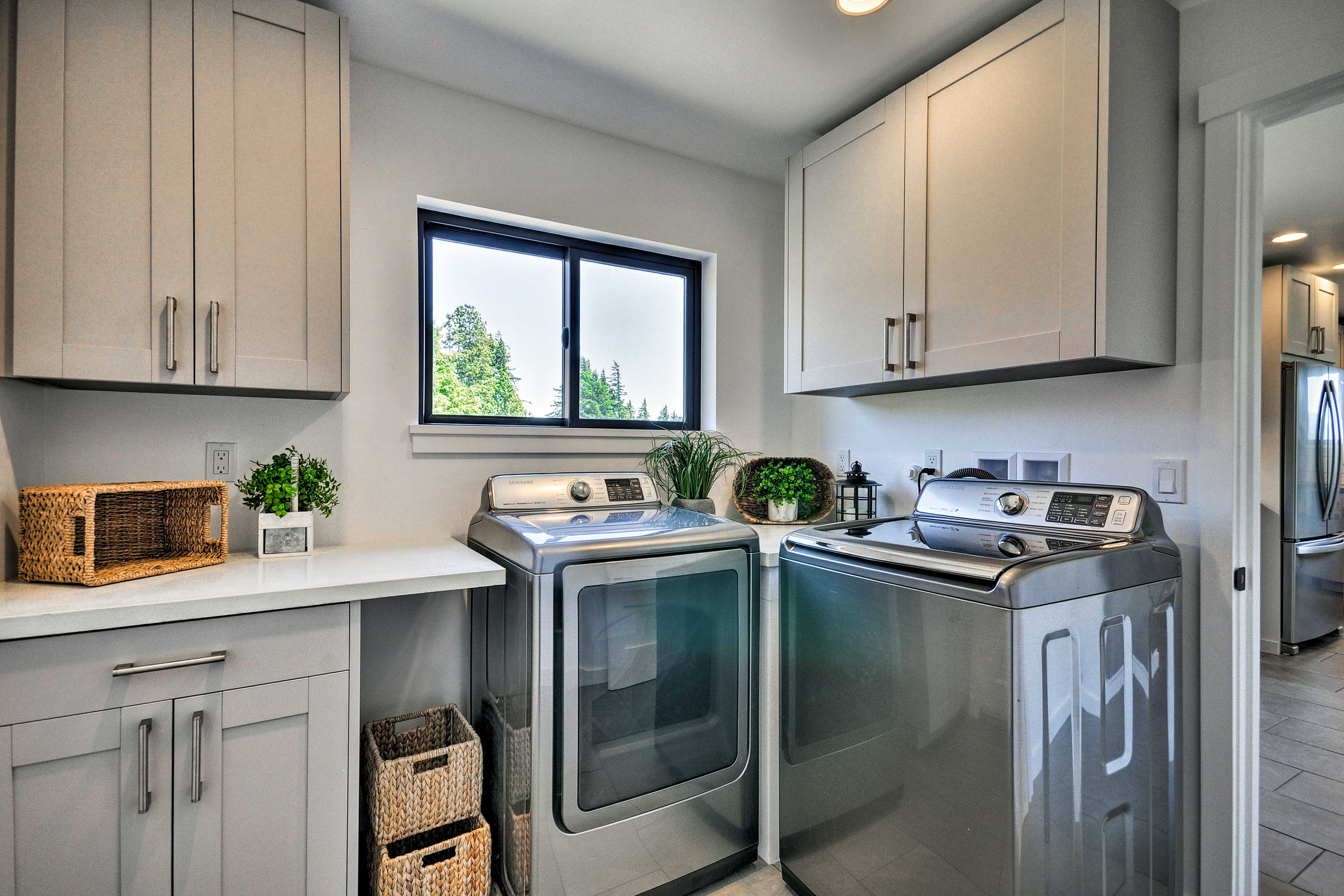 The laundry room will keep all your vacation clothes clean.