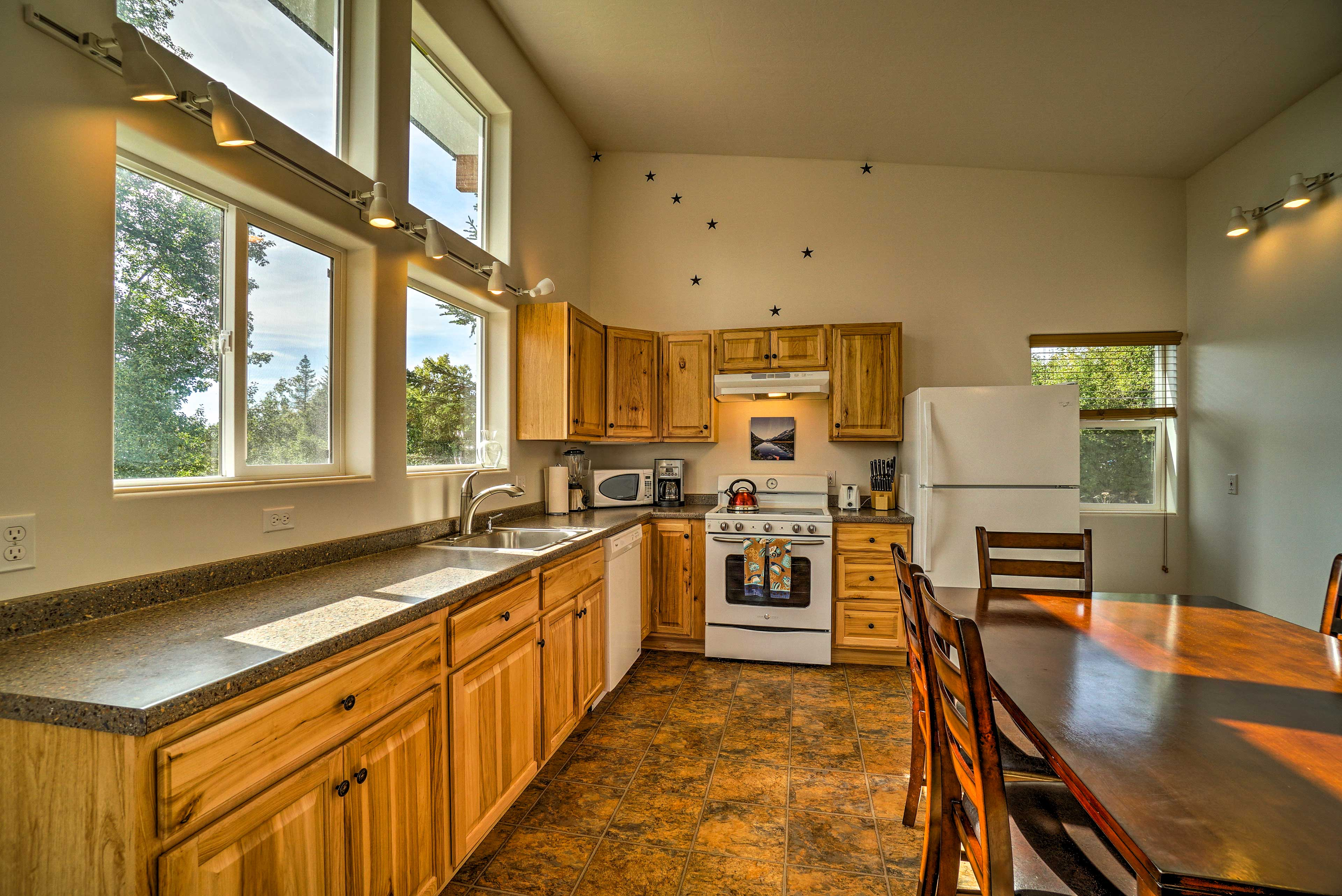 Enjoy stunning views while cleaning up the kitchen.