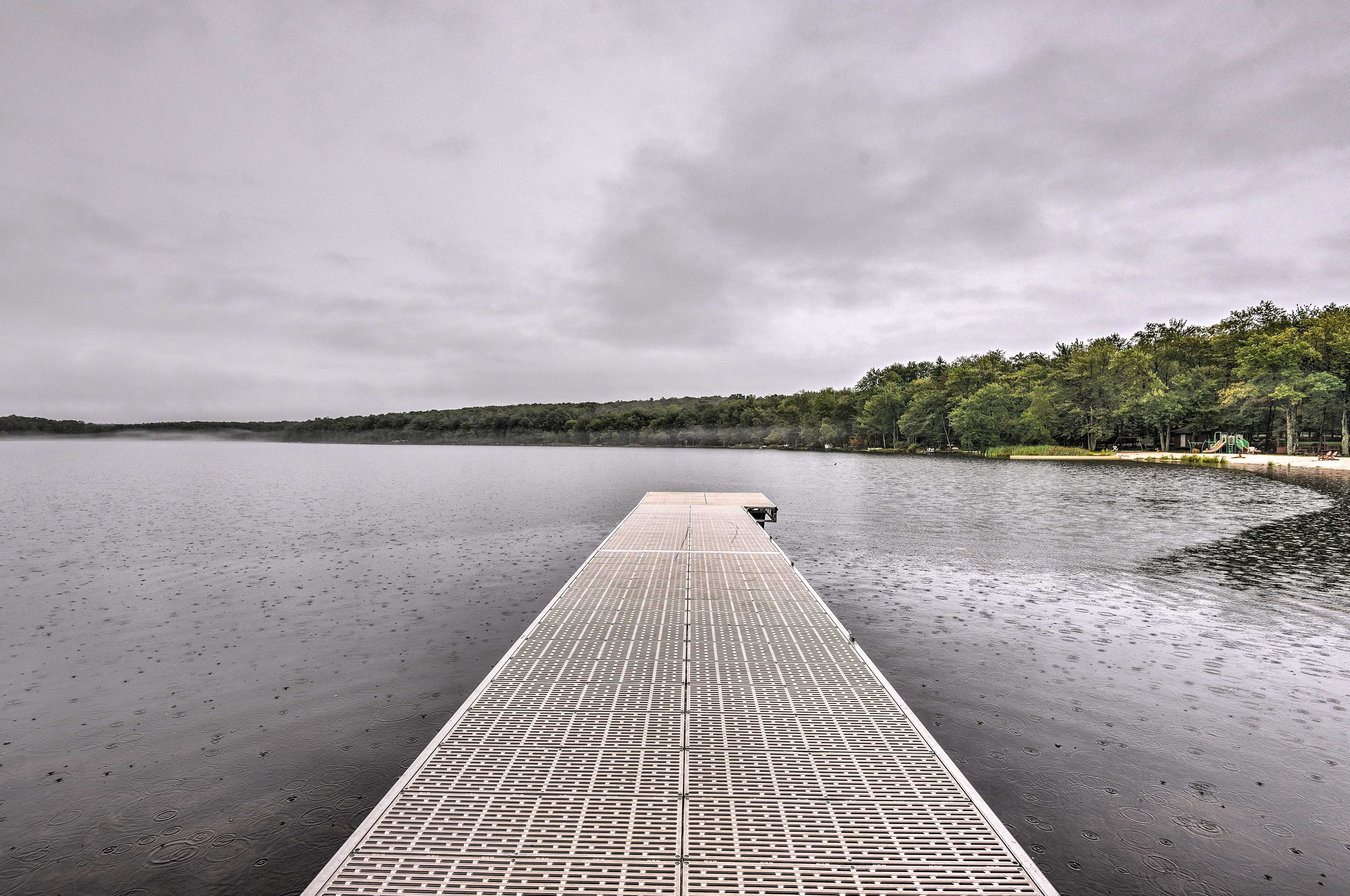 Bring the boat along for a day on the no-wake lake!