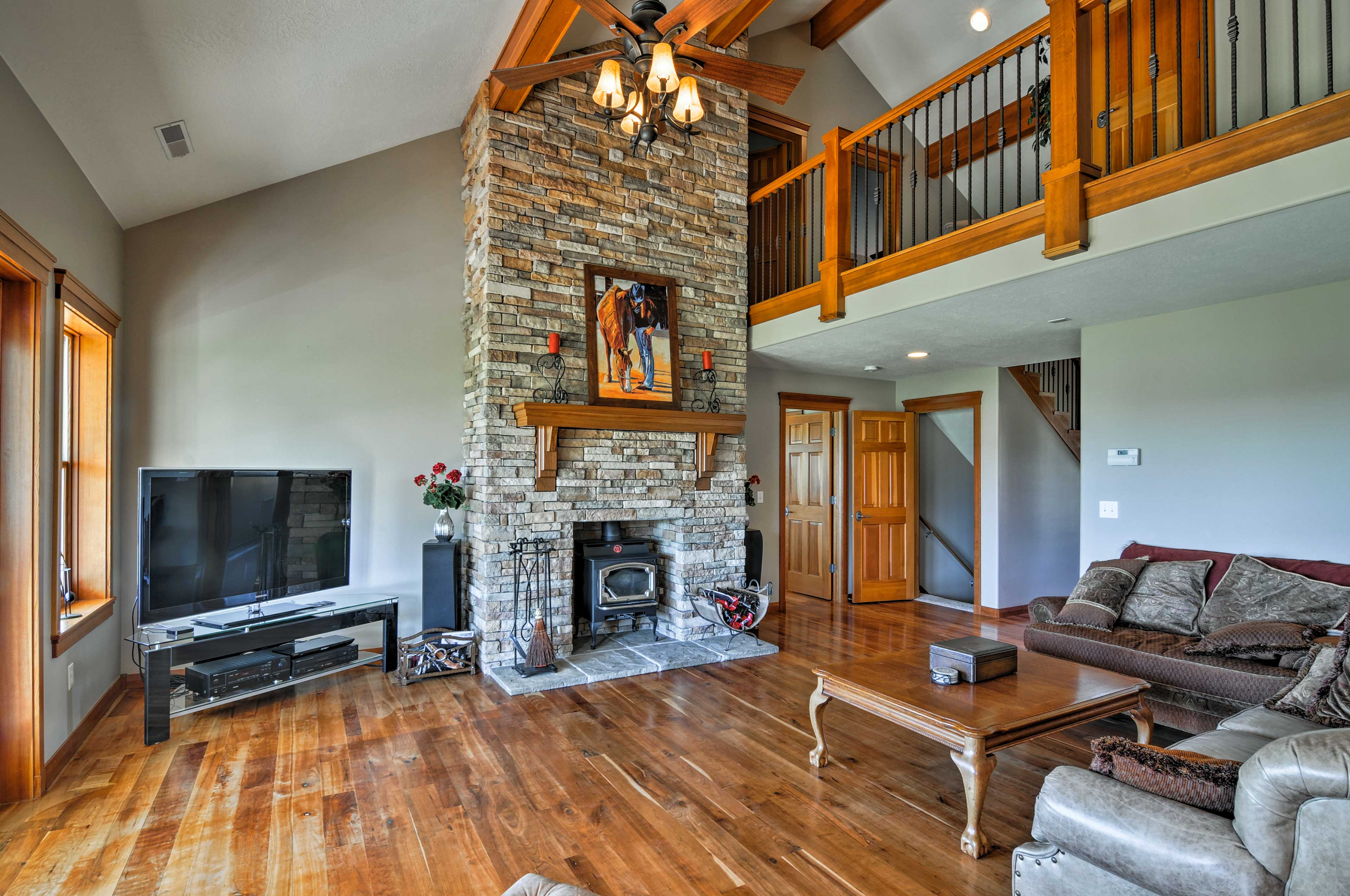 The vacation rental ranch house boasts 5,600 square feet of living space.