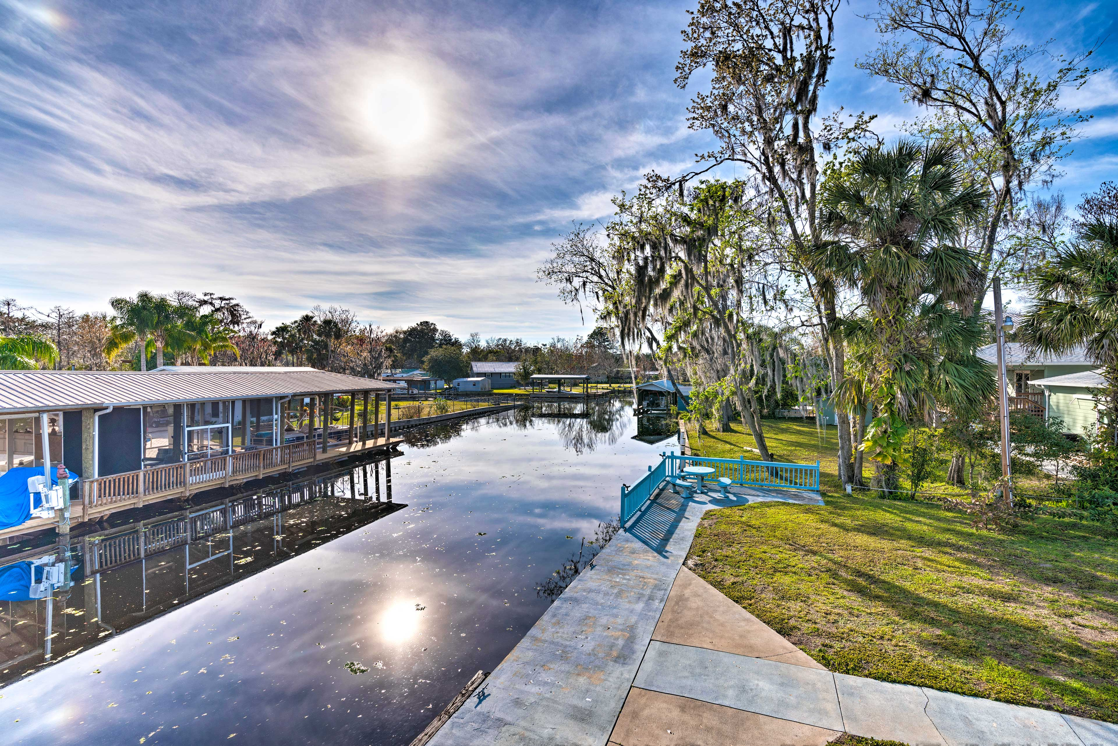 The property is nestled on a canal the leads straight to the St. Johns River.