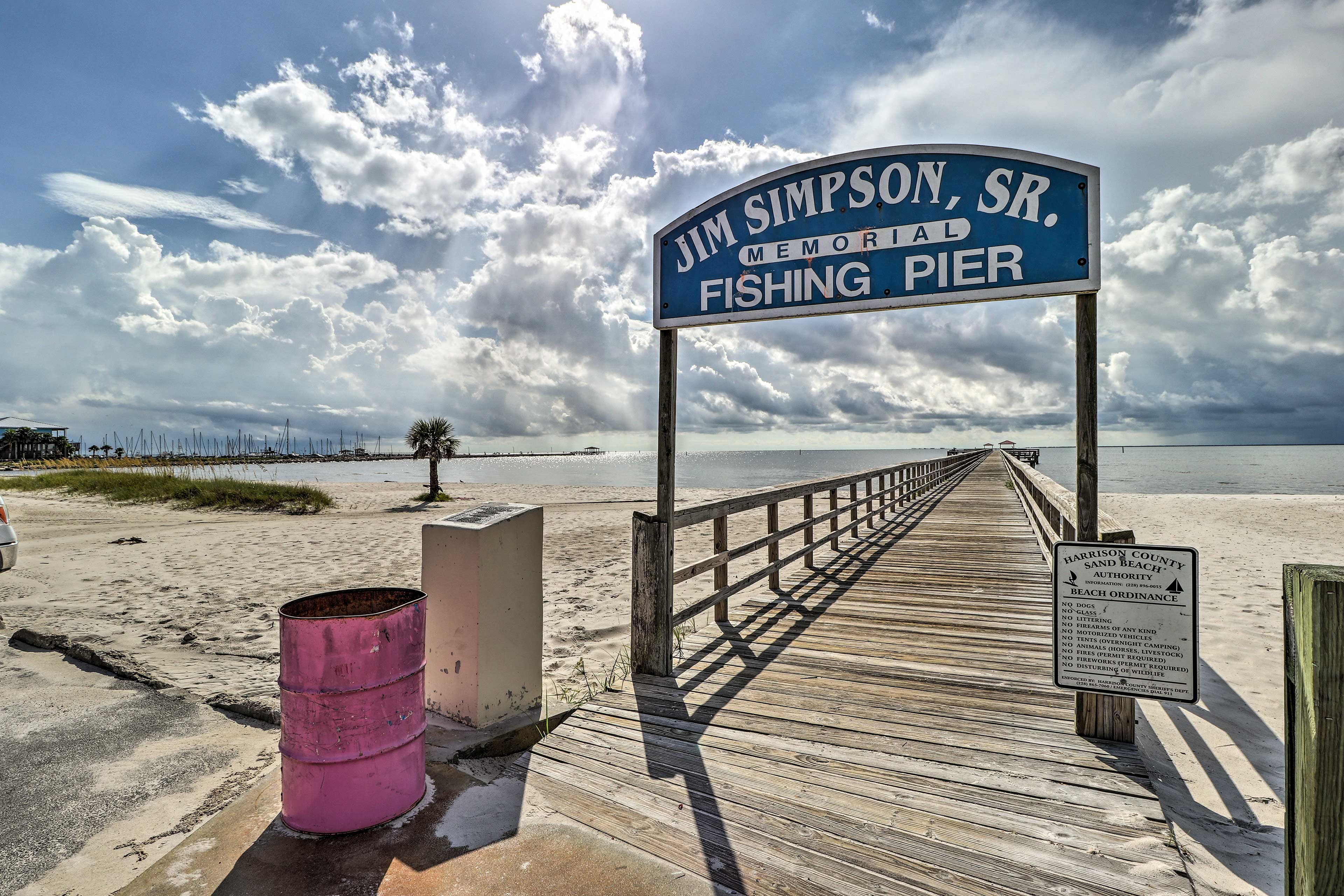 Try your luck at snagging a catch of the day at this nearby pier.