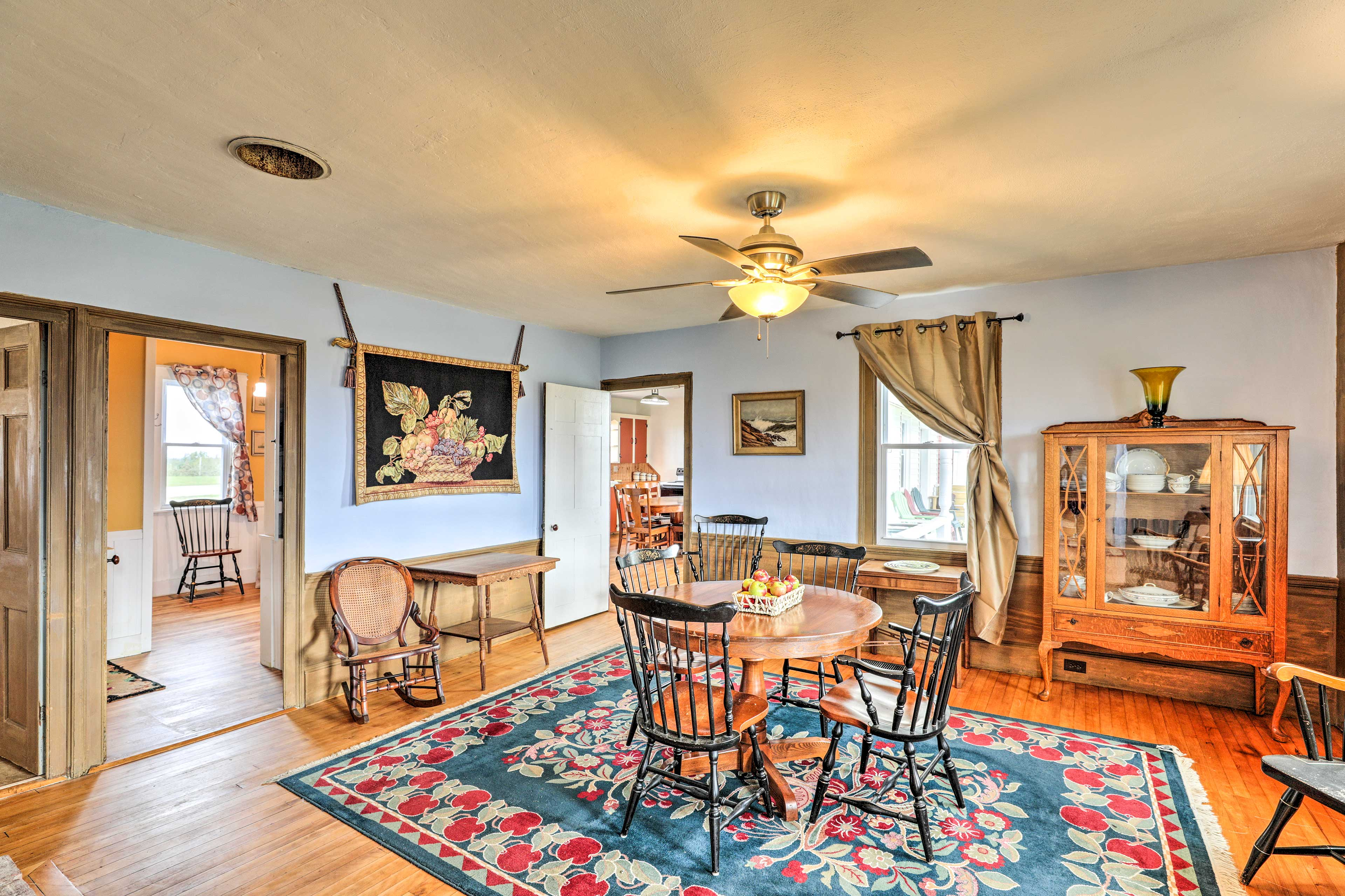 Up to 10 guests can enjoy the antique furnishings and traditional decor inside!