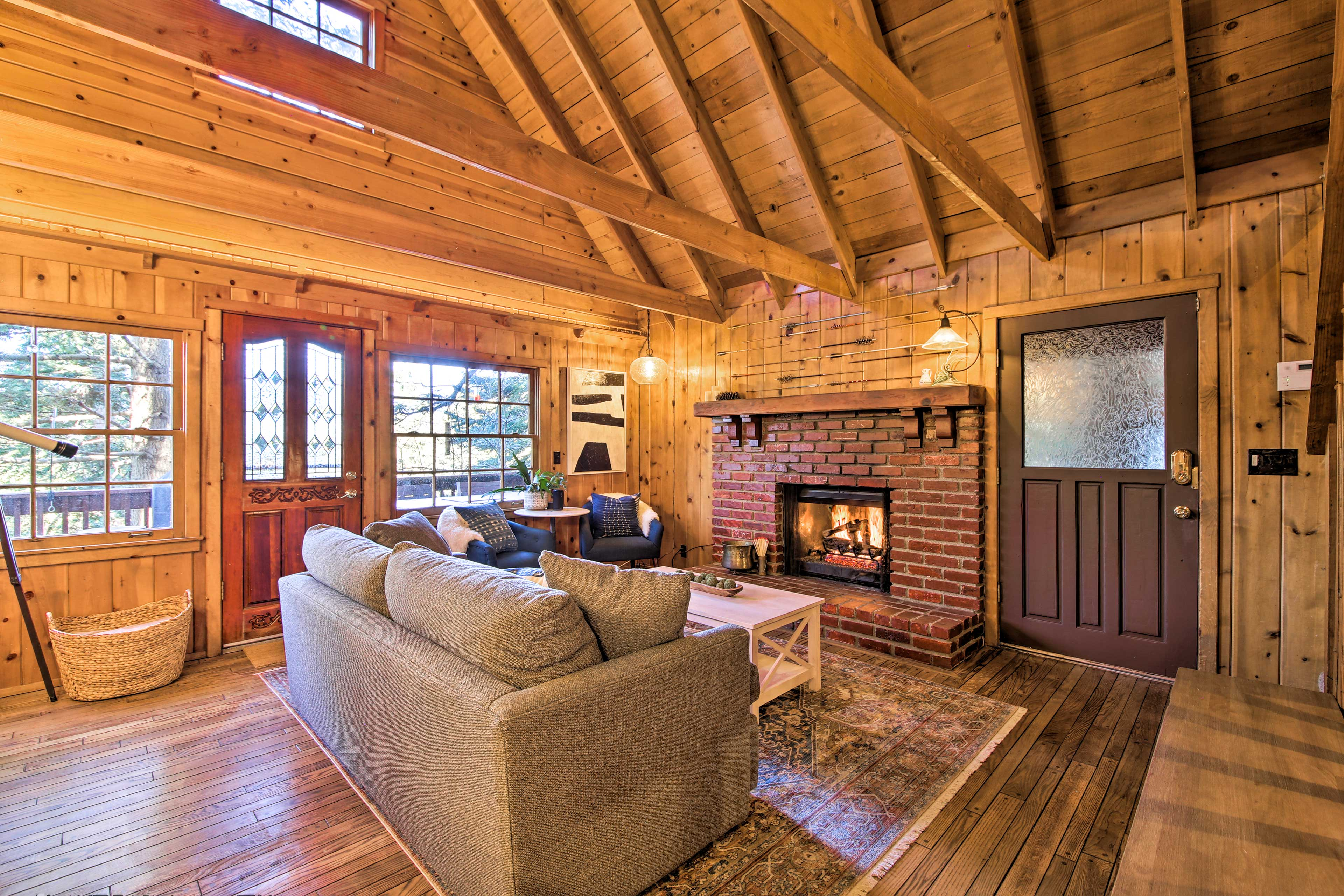 In your downtime, turn on the gas fireplace and relax with the family.