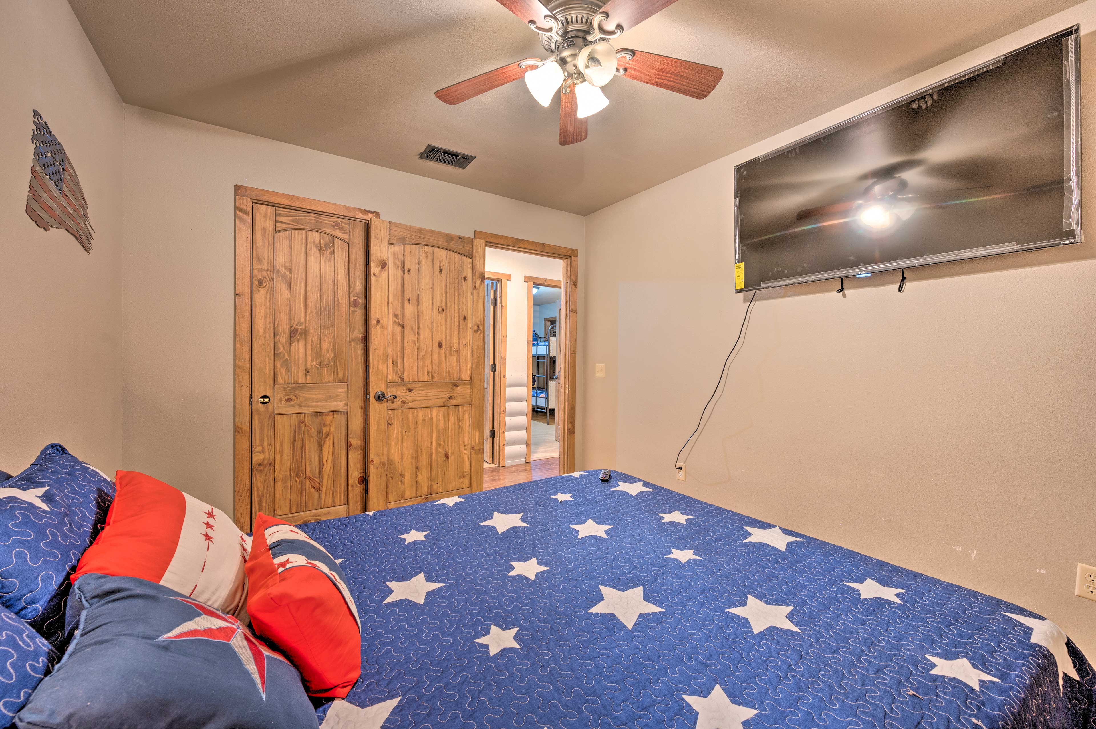 Let the ceiling fan buffer you to sleep each night.