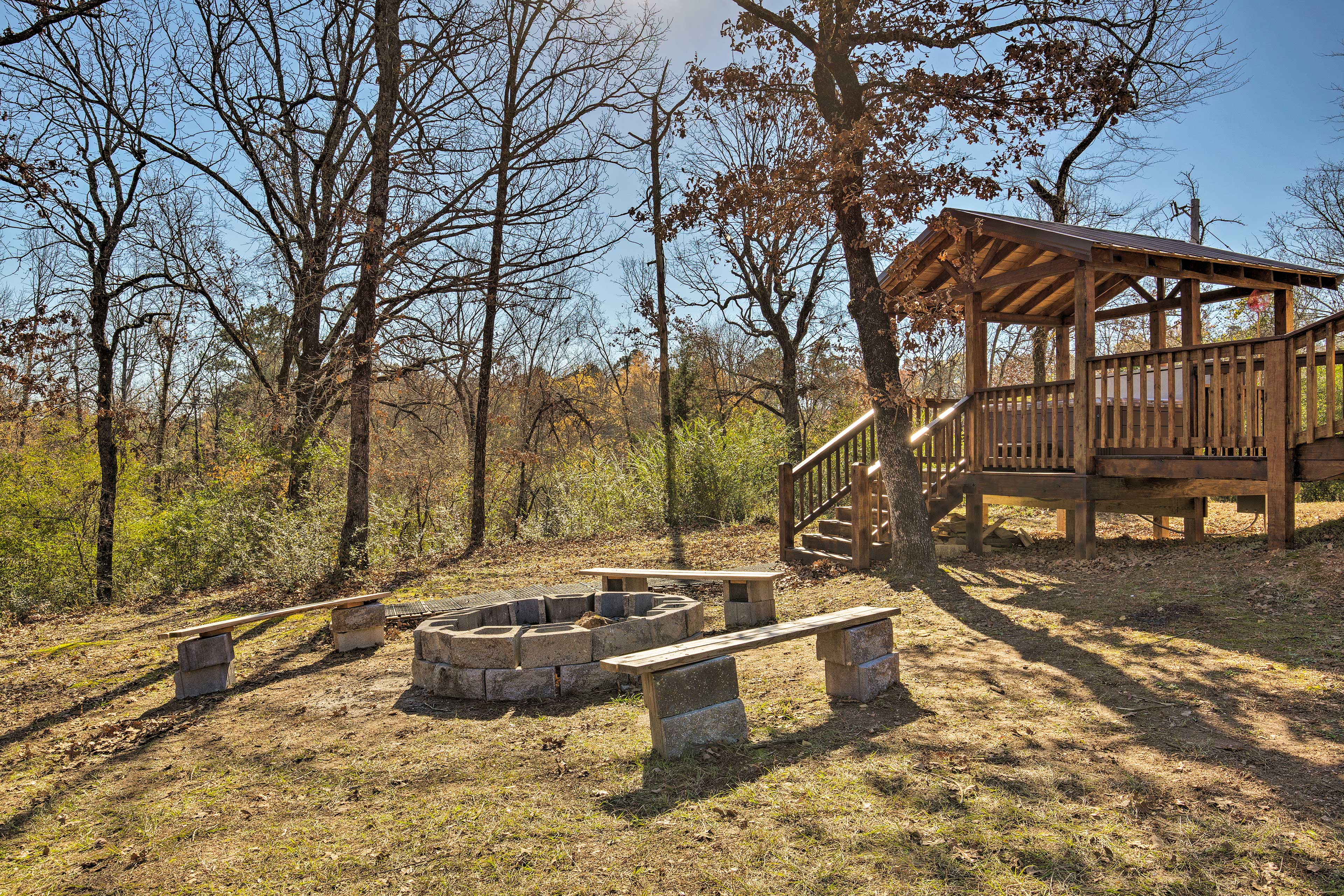 Secluded and private, this home provides a true getaway!