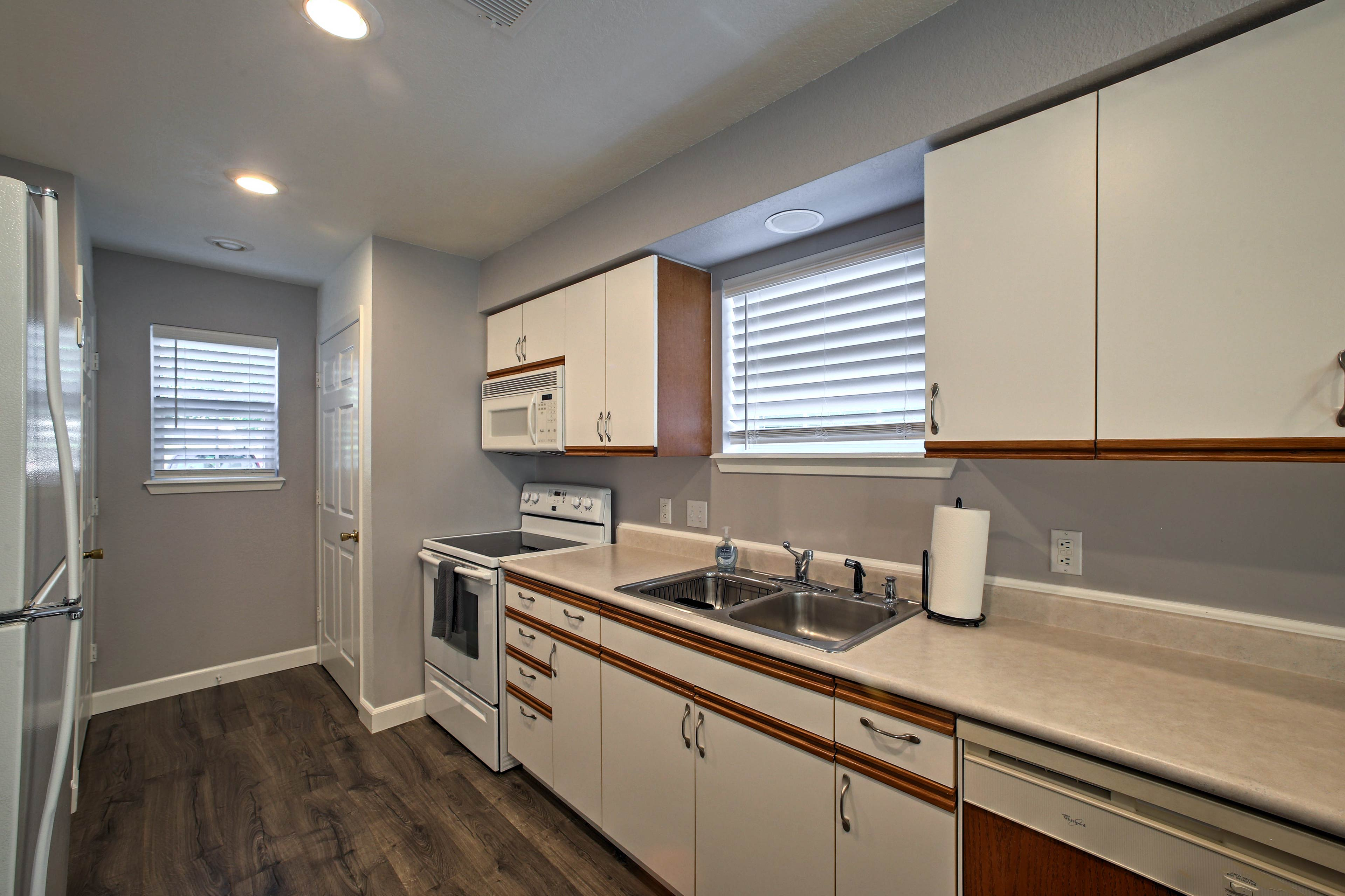 Inside, you'll find over 1,000 square feet of freshly remodeled living space.