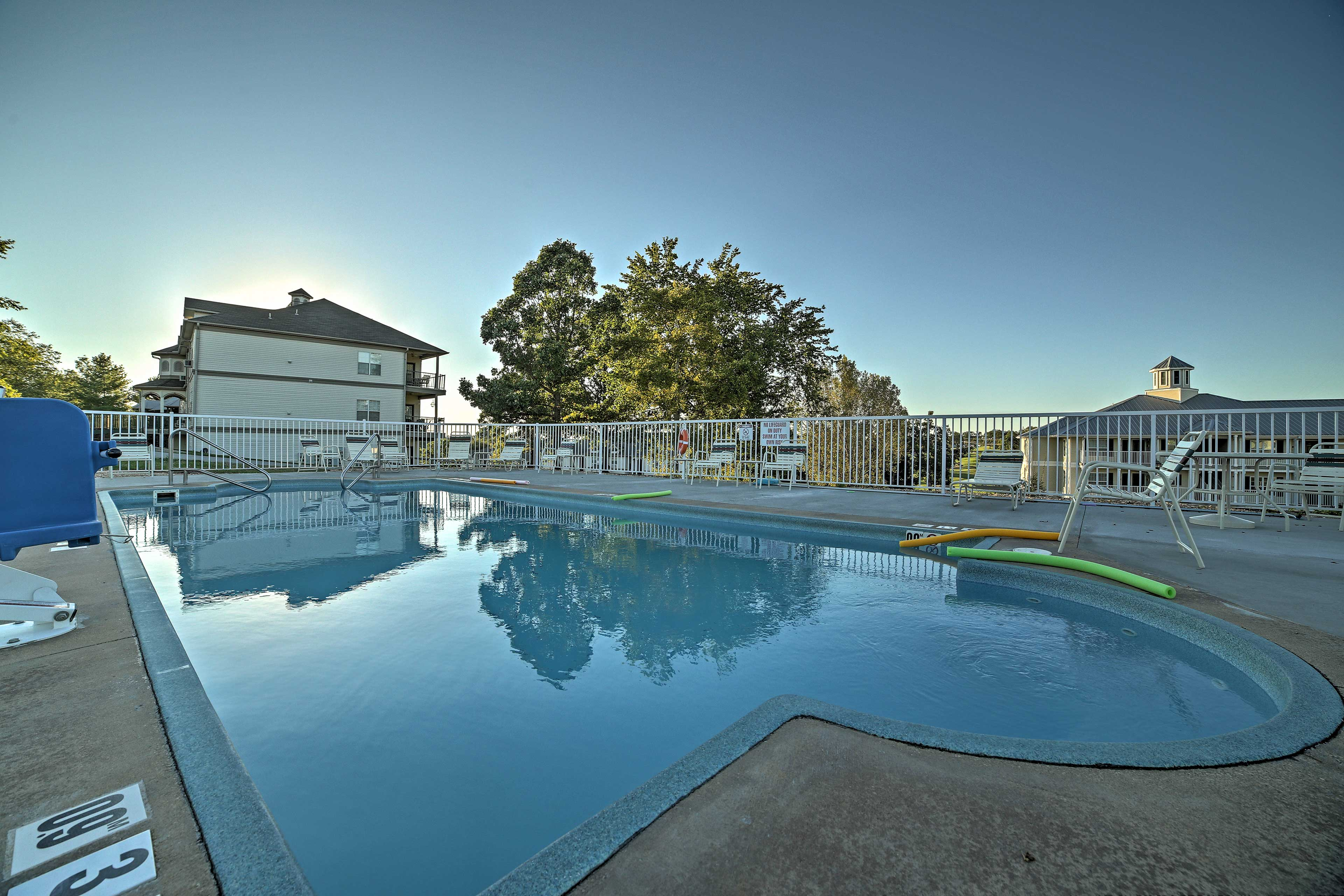 The resort also offers outdoor swimming pools.