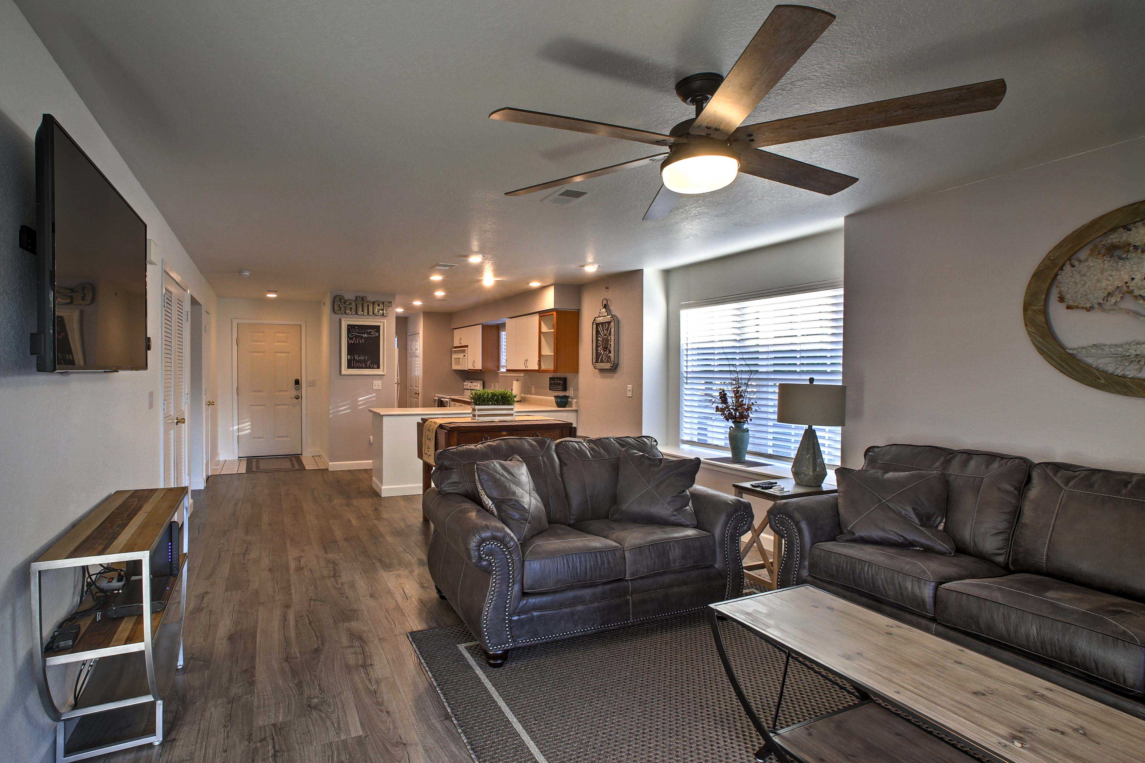 The open-concept layout is great for groups!