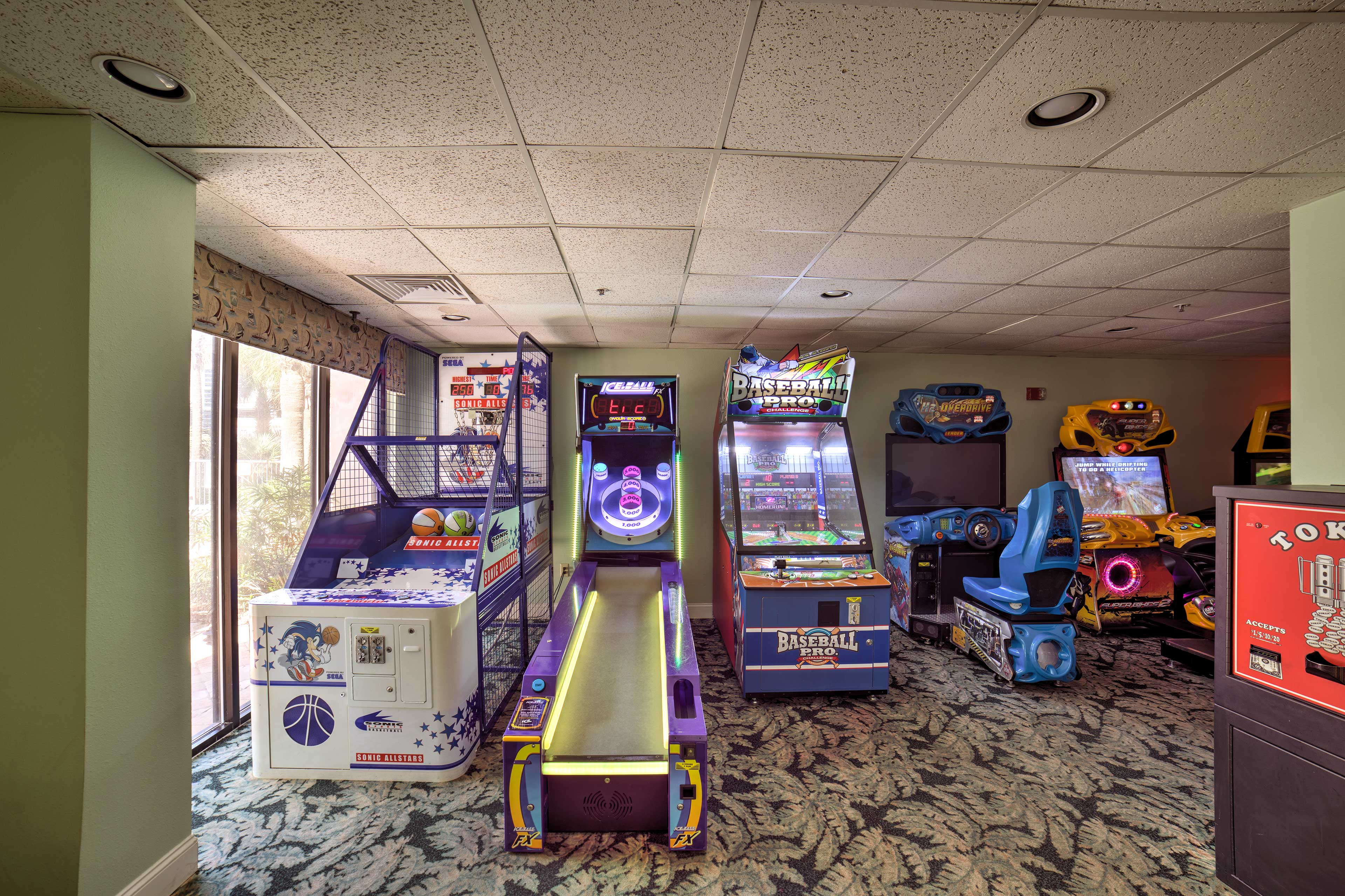 Play some arcade games with the kiddos!