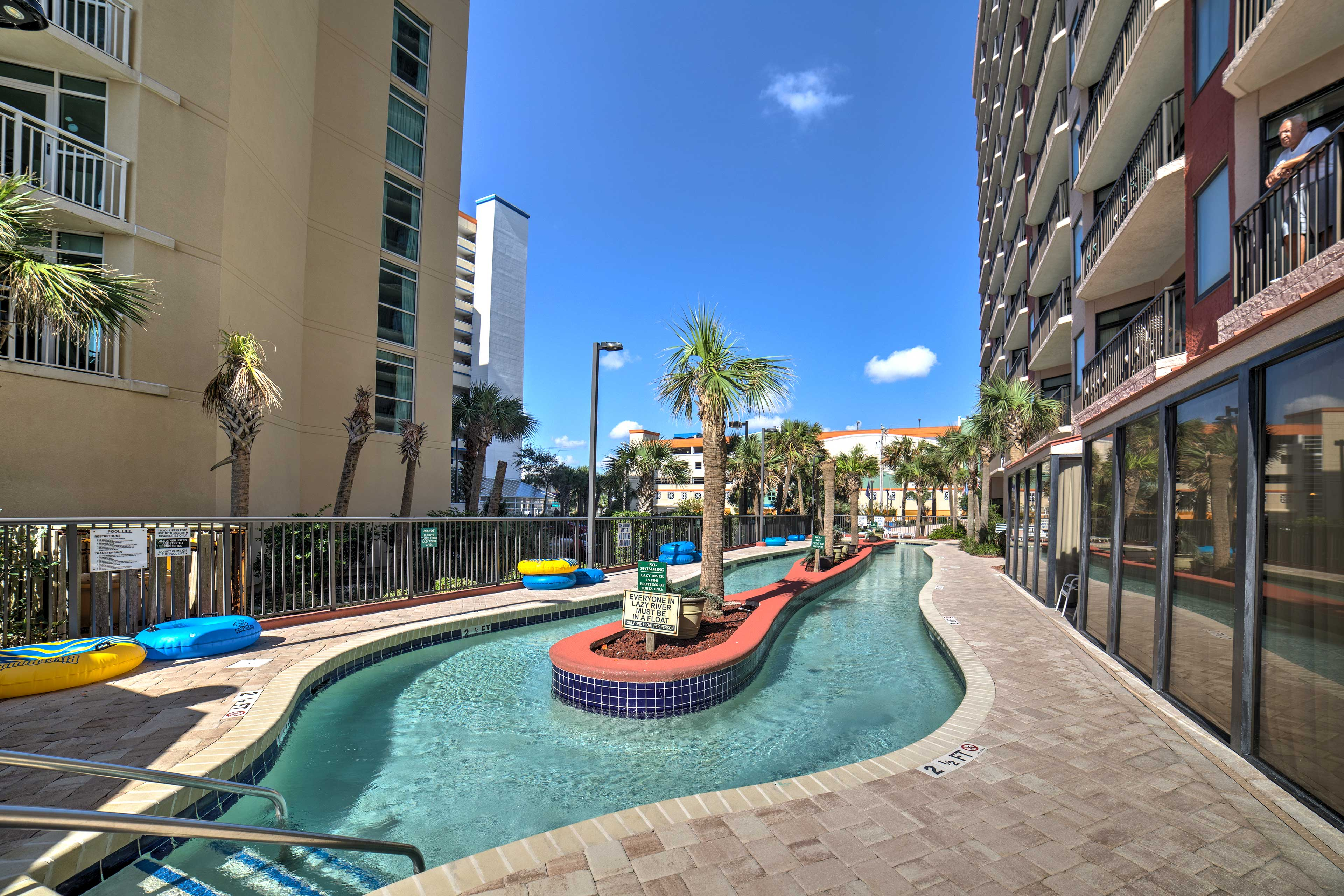 Your worries will float away in the lazy river.