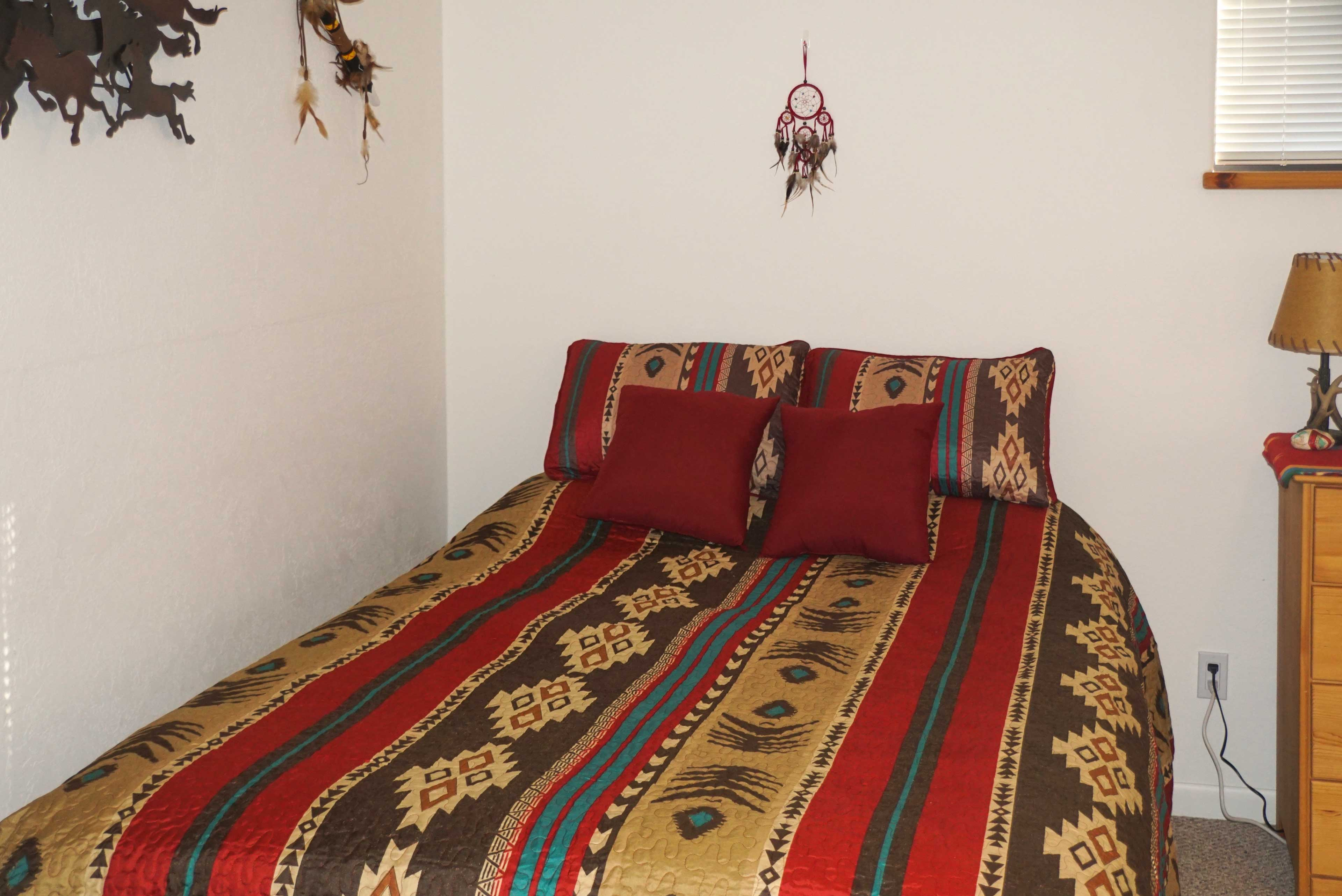 Up to 3 guests can share this 'Wild West' bedroom!