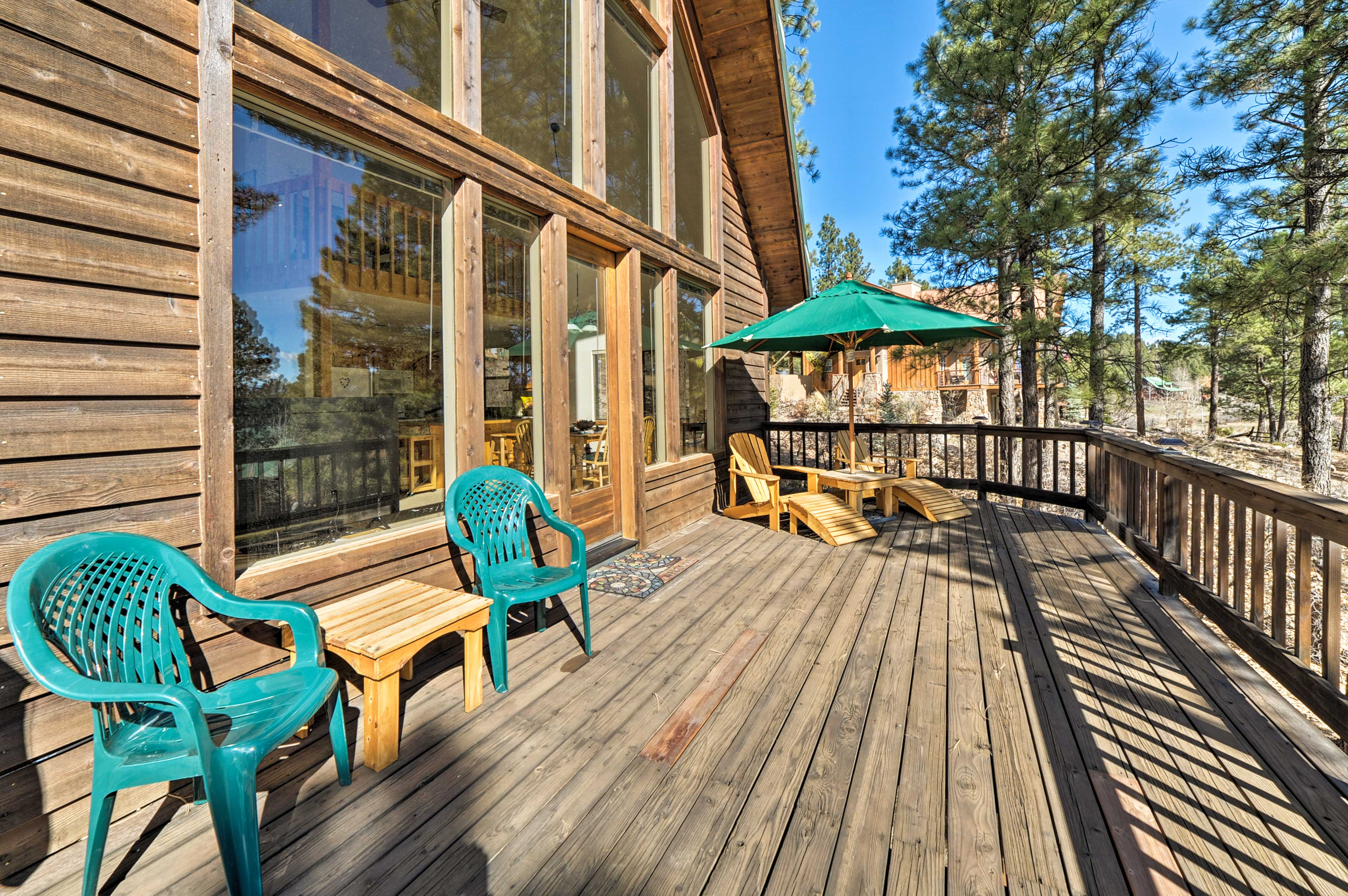 The front deck is perfect for getting some vitamin D!