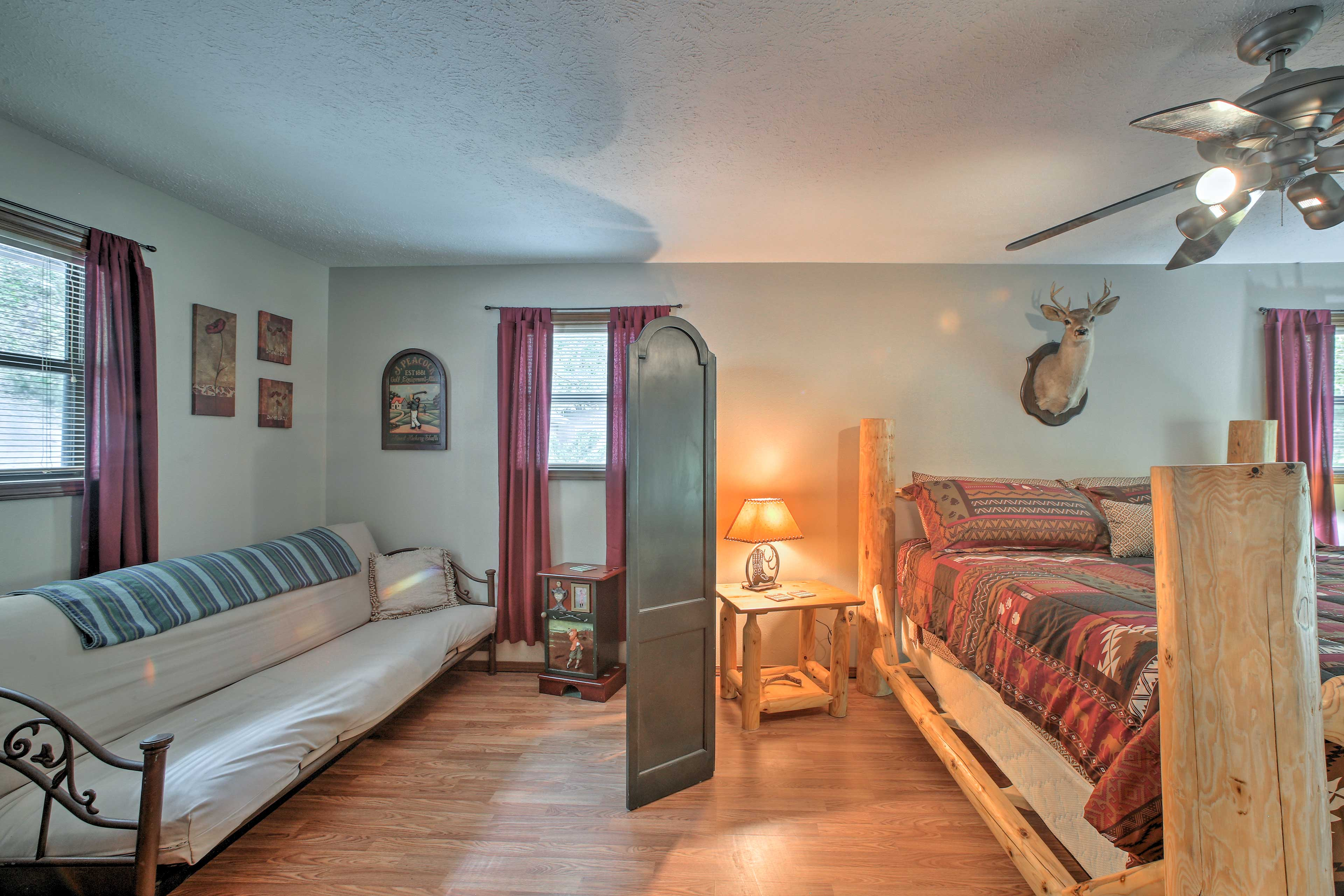 Two additional guests will enjoy nights of peaceful sleep on the futon.