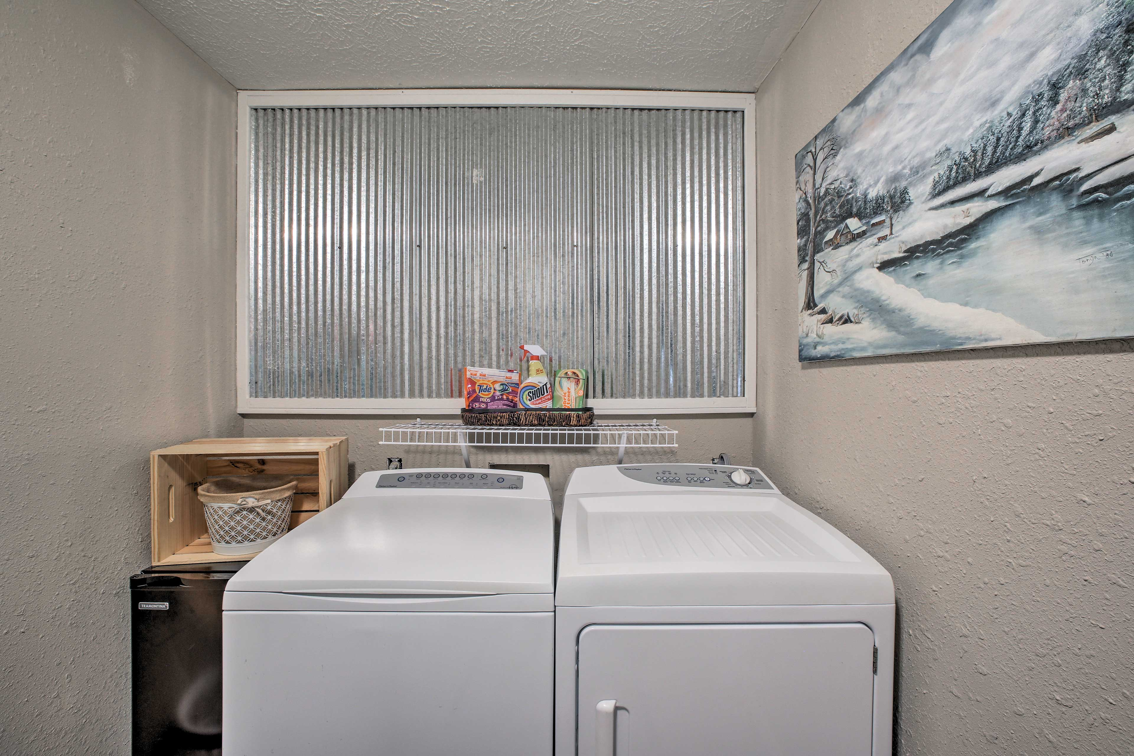 Keep all your adventure gear fresh in the in-unit laundry machines.