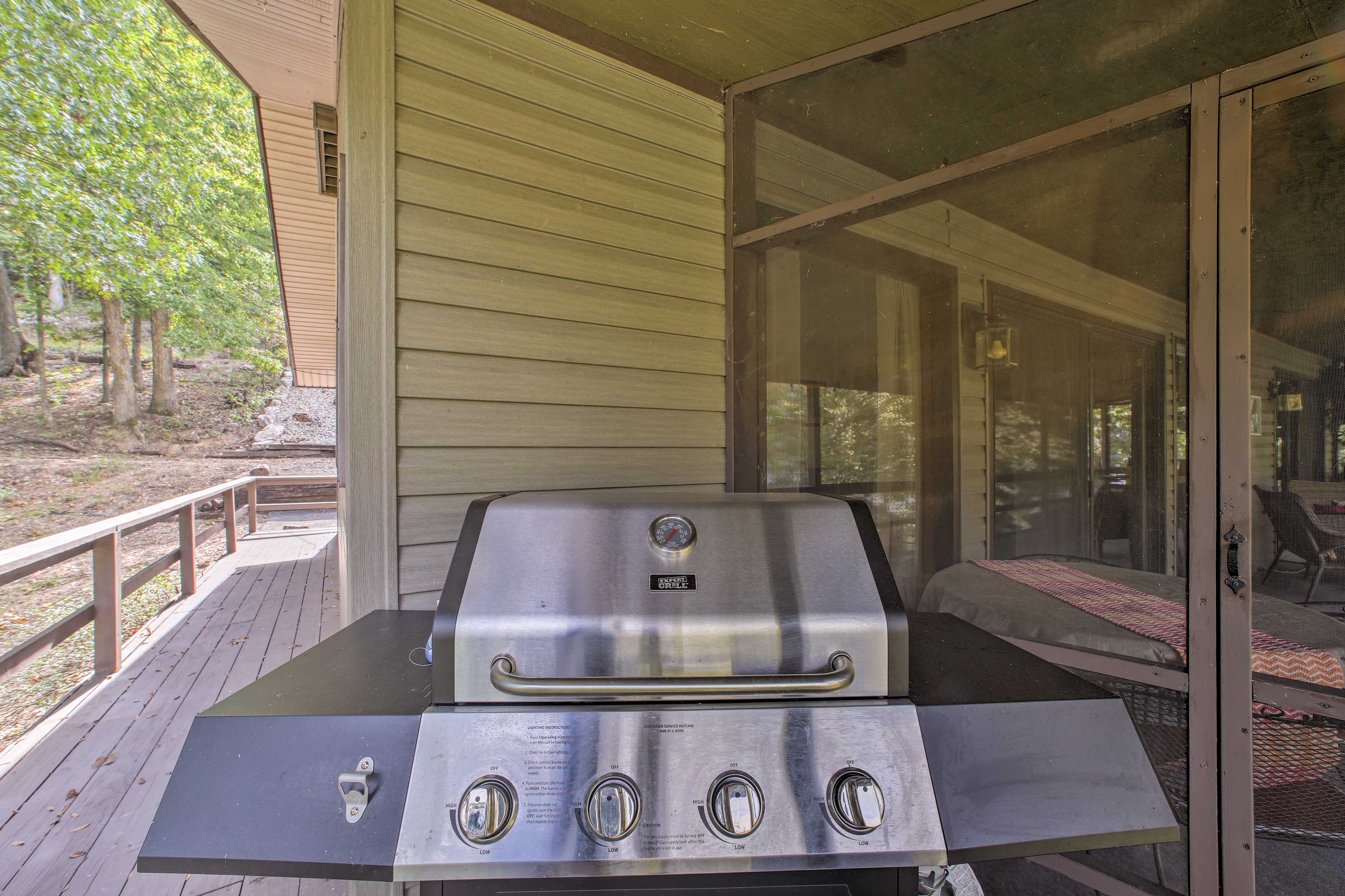Fire up the quality gas grill for a good ol' family cookout.