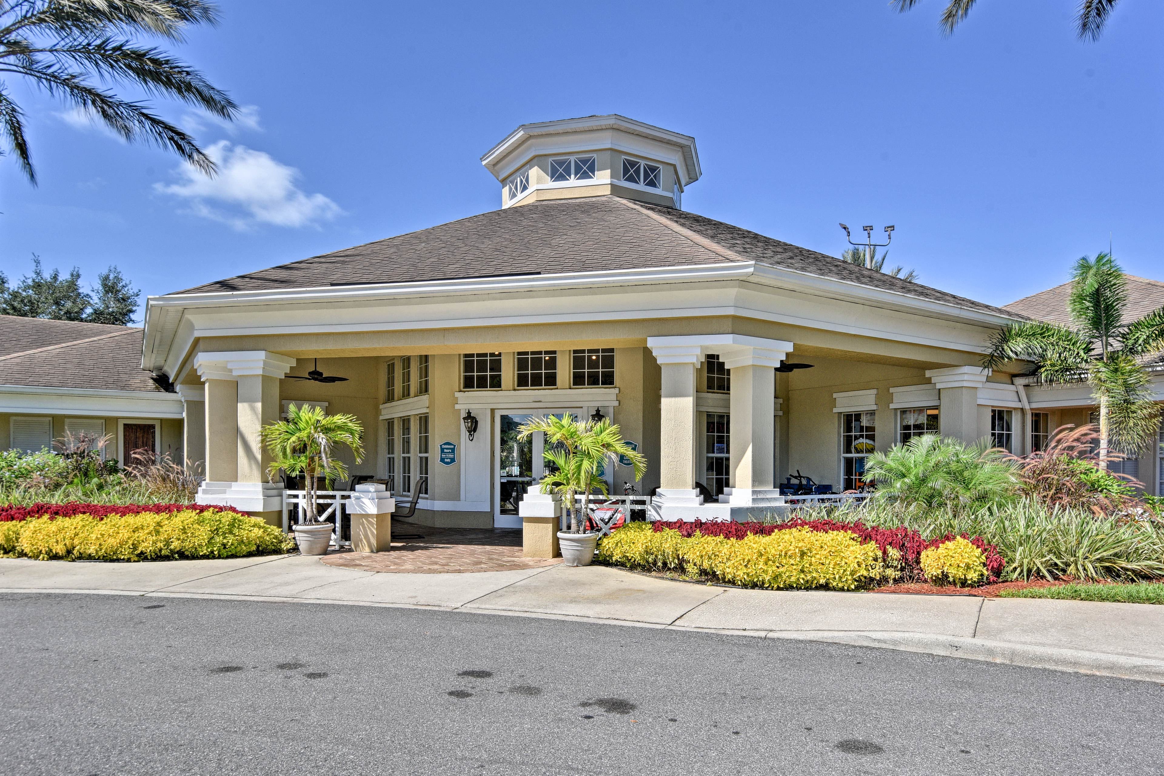 Enjoy access to the community clubhouse in this gated and guarded neighborhood.