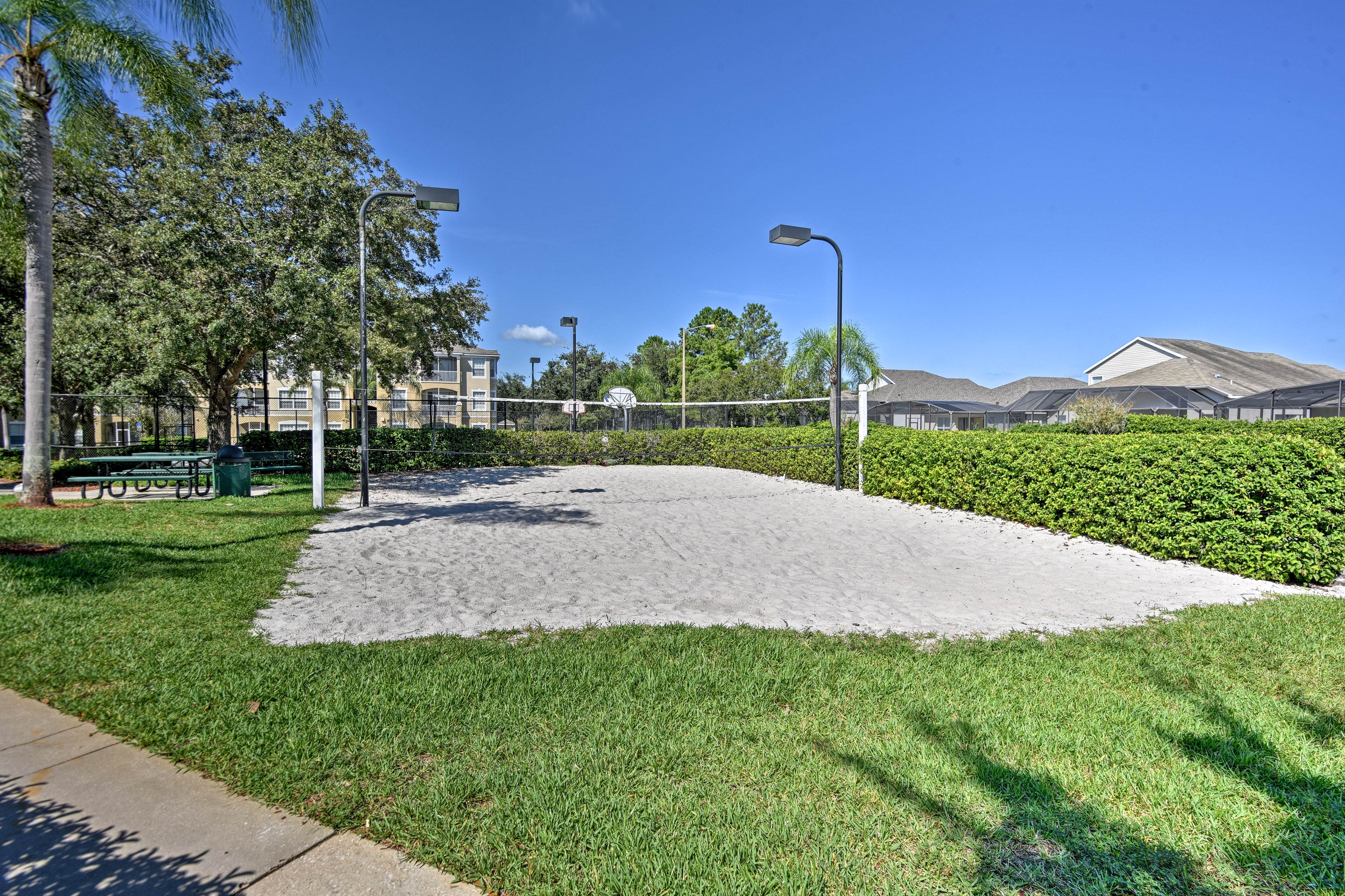 Walk just down the road to access community amenities.
