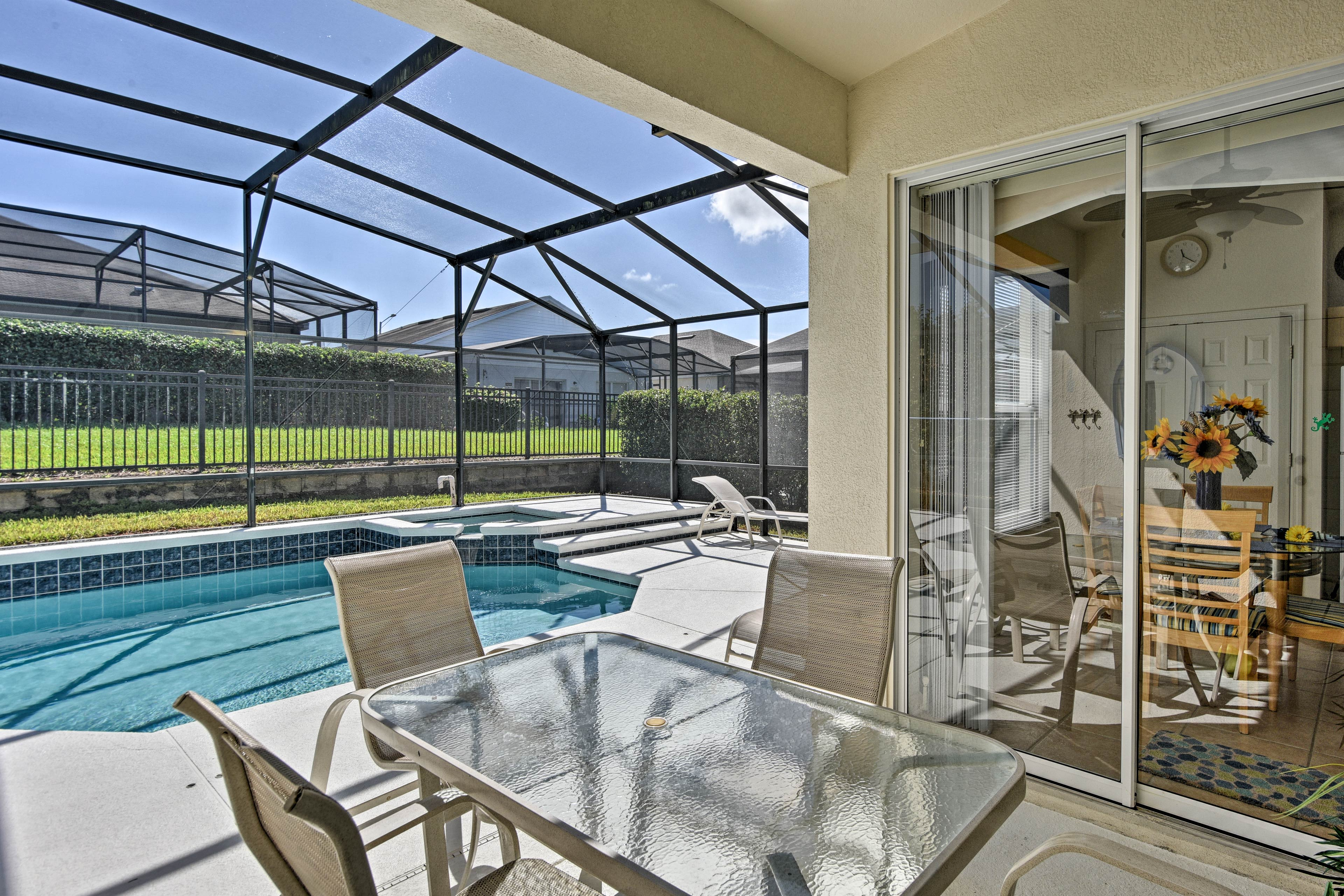 Step outside and relax in your private lanai.