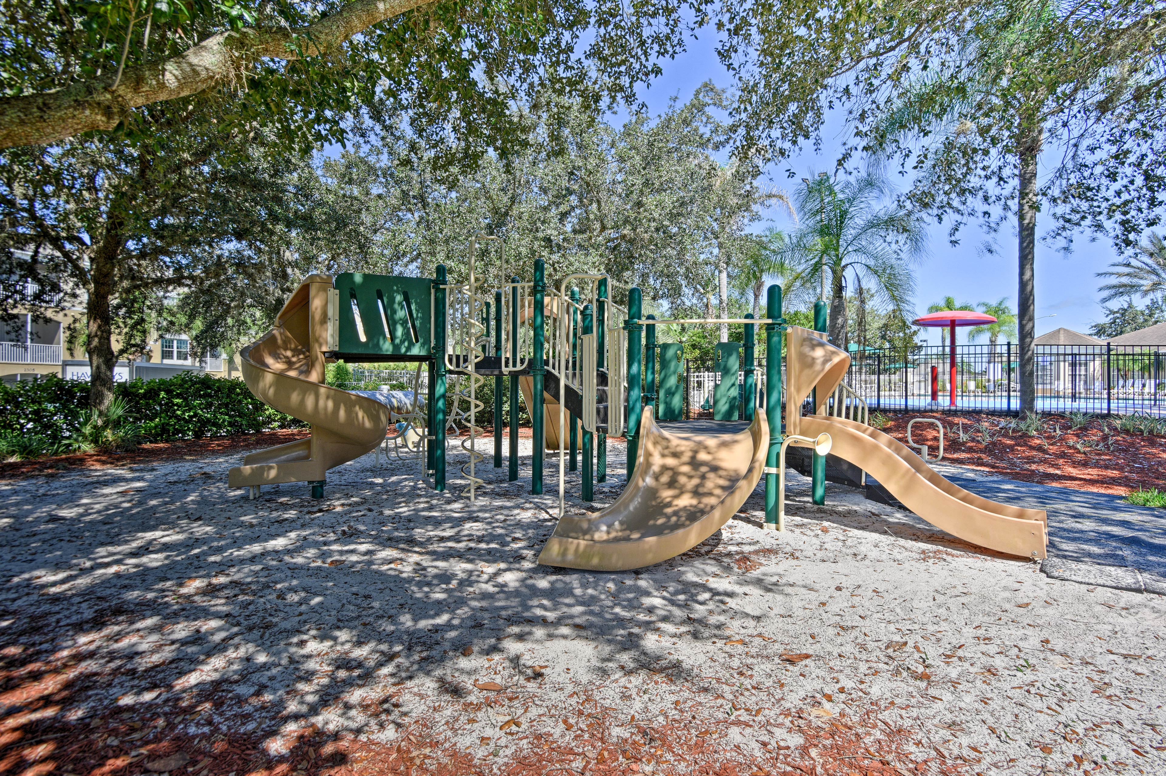 Let your kids burn off some energy at the playground.