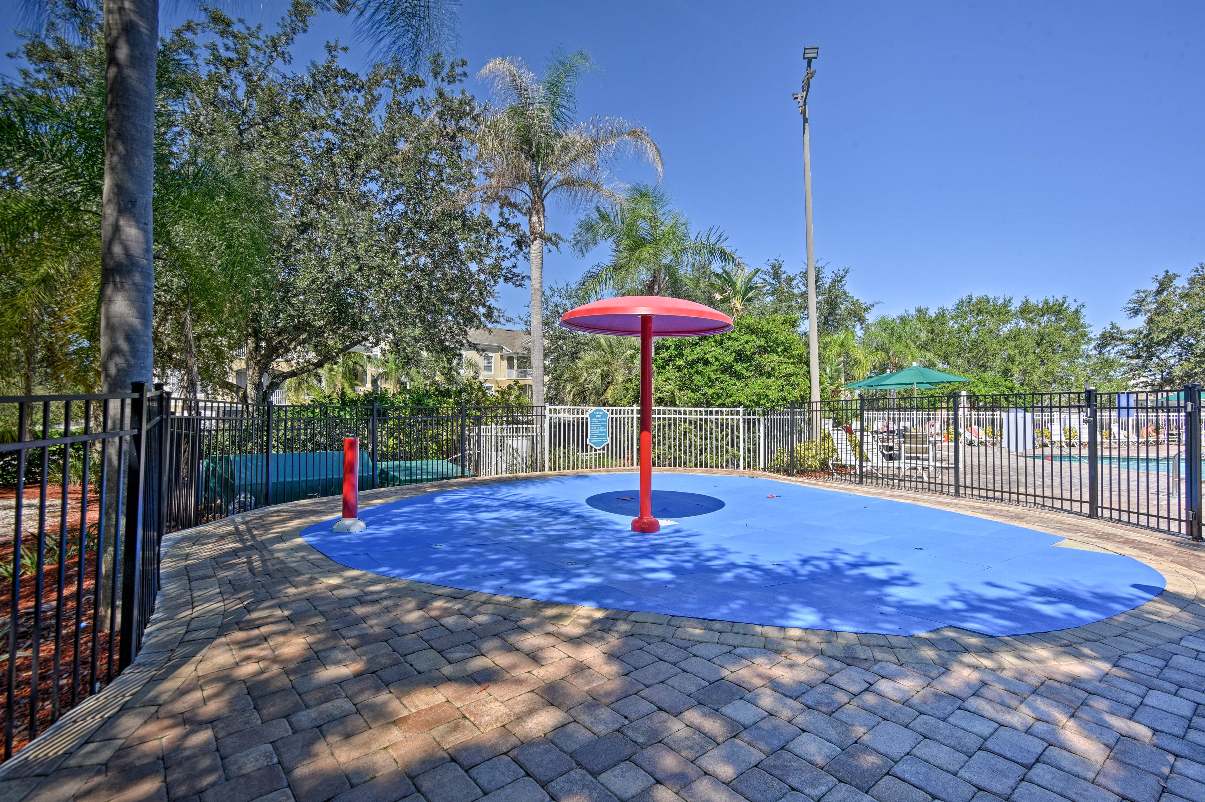 The little ones will love this splashpad.
