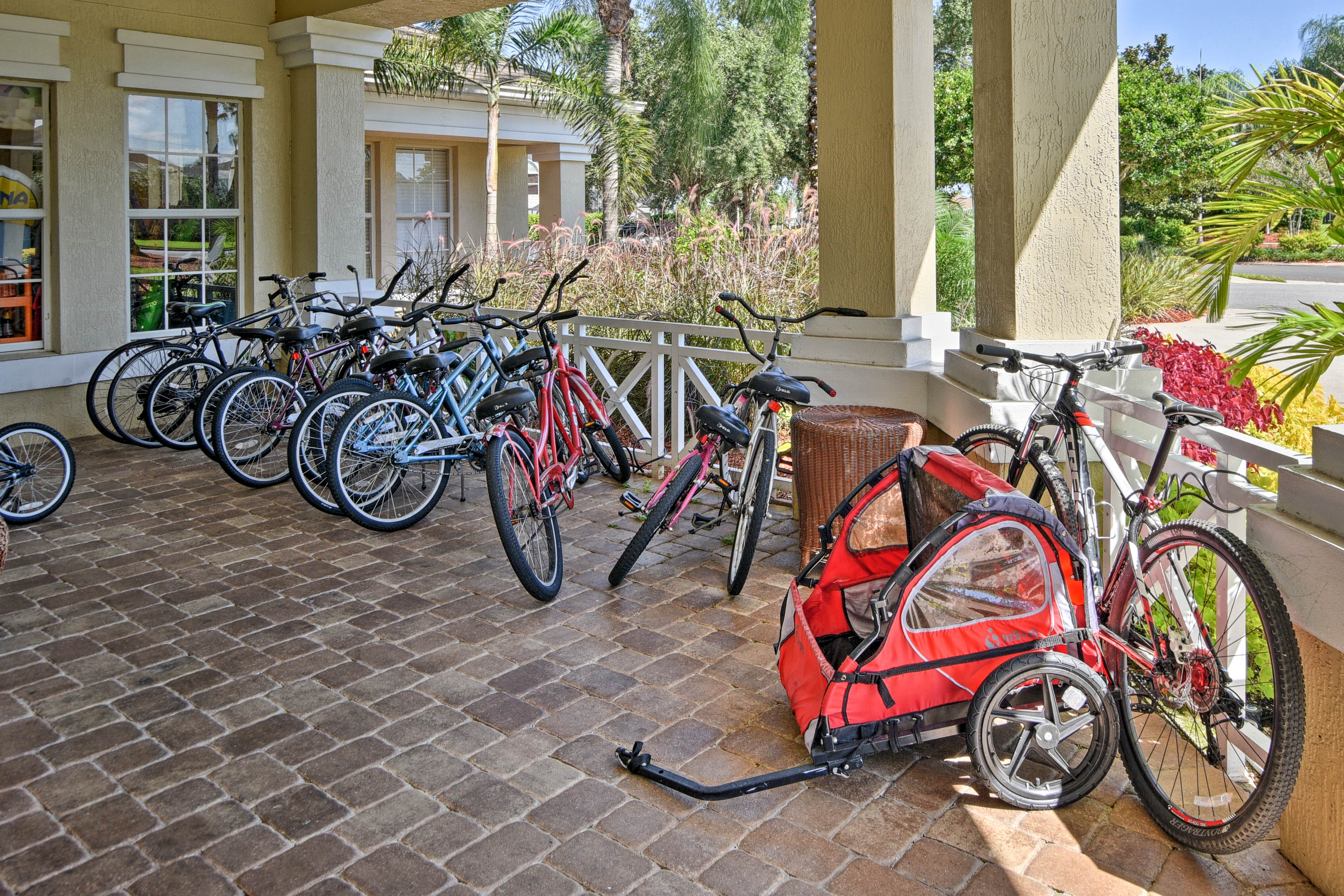 Rent a bike and explore nearby parks and lakes.