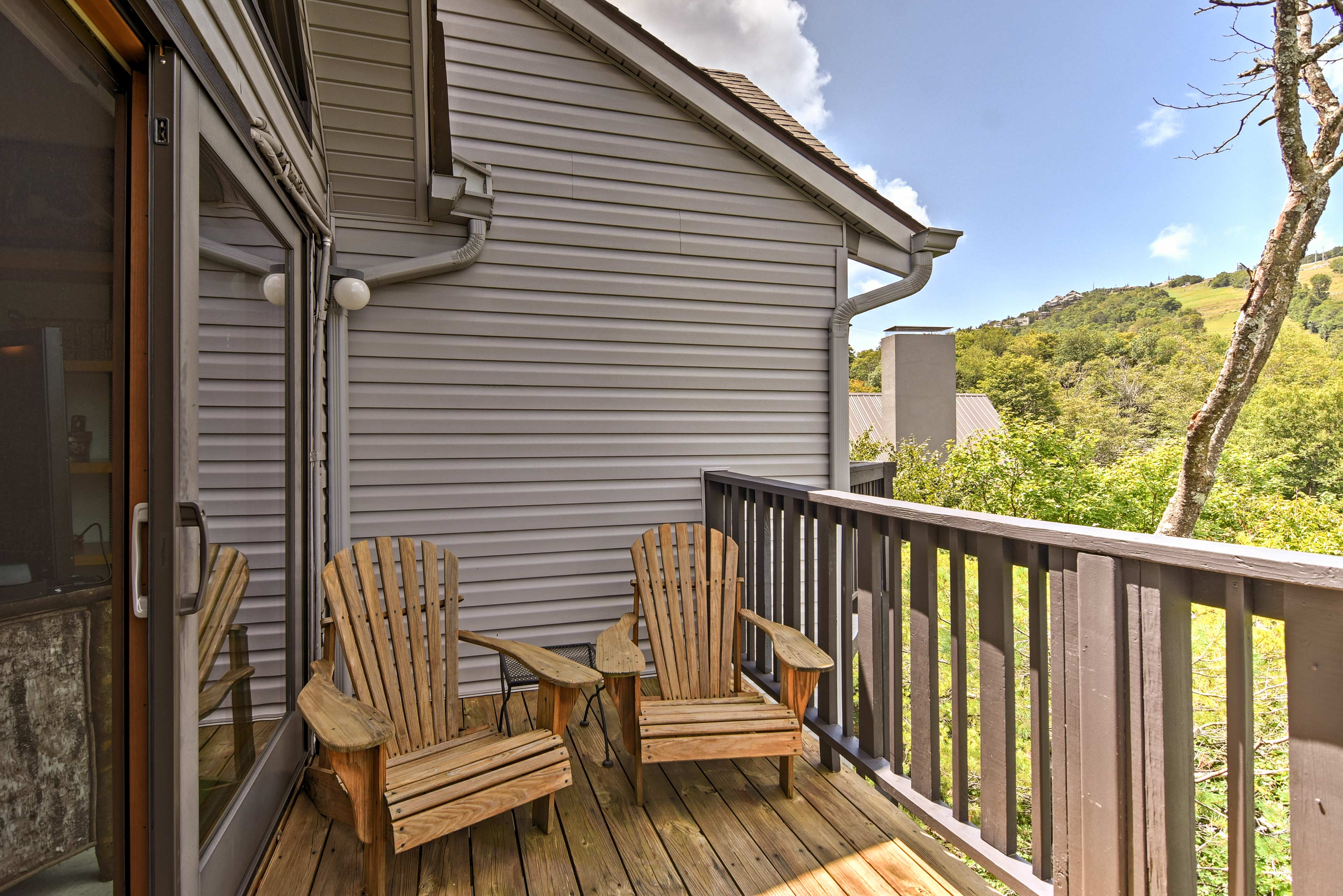 Grab your favorite book and enjoy a quiet afternoon in the Adirondack chairs.