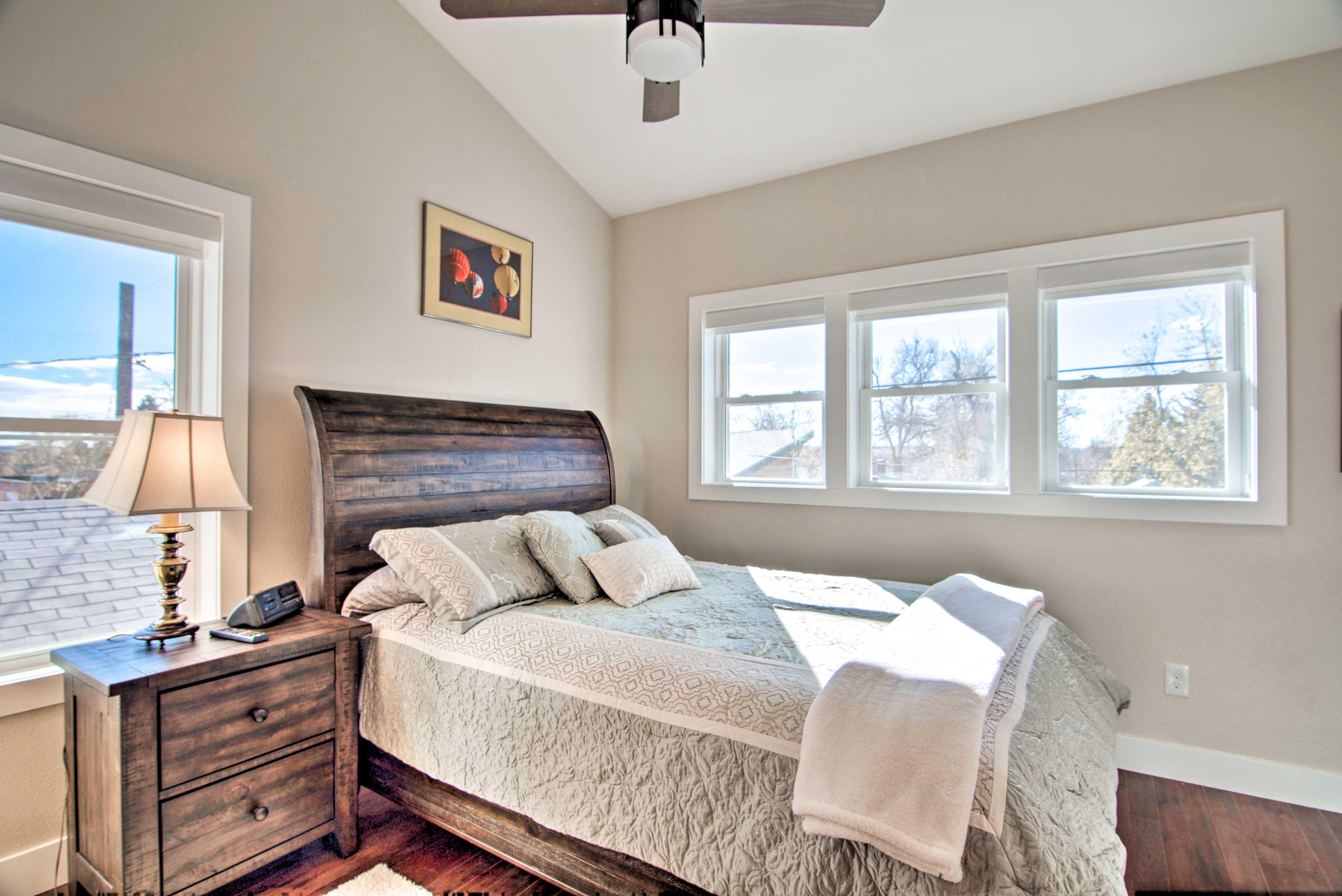 Dreams come even in this cozy queen bed!