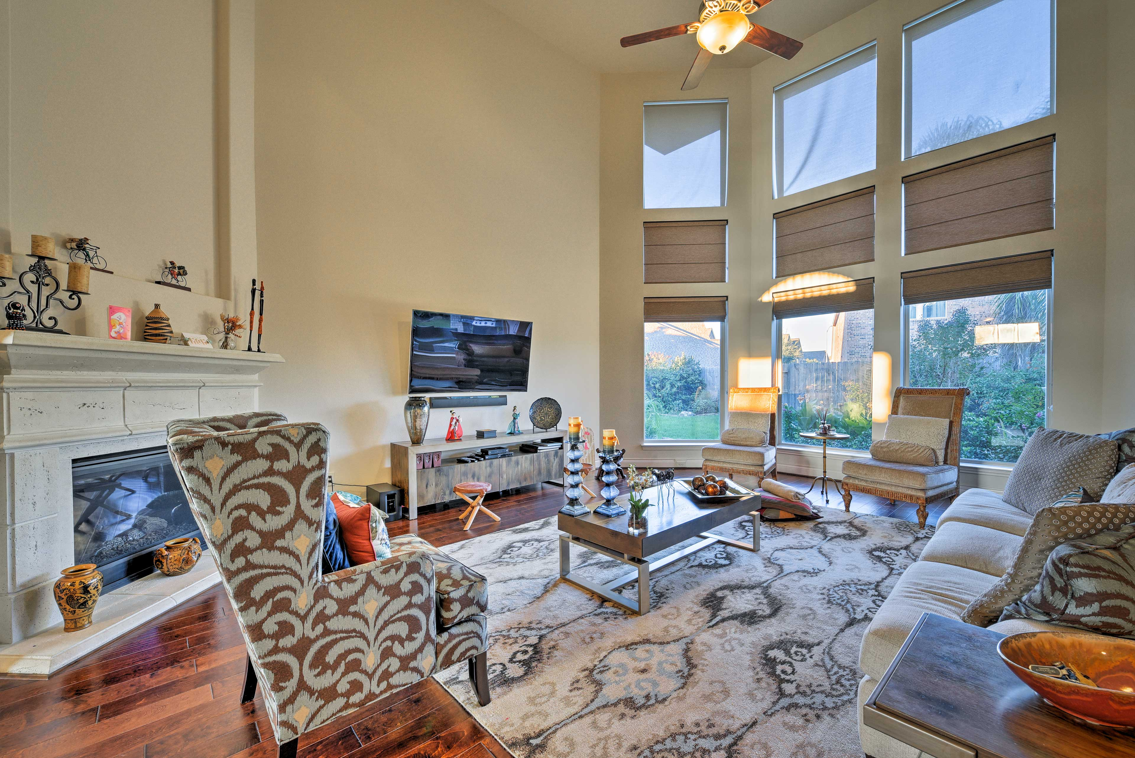 You'll love returning to the beautiful living room after a long day.