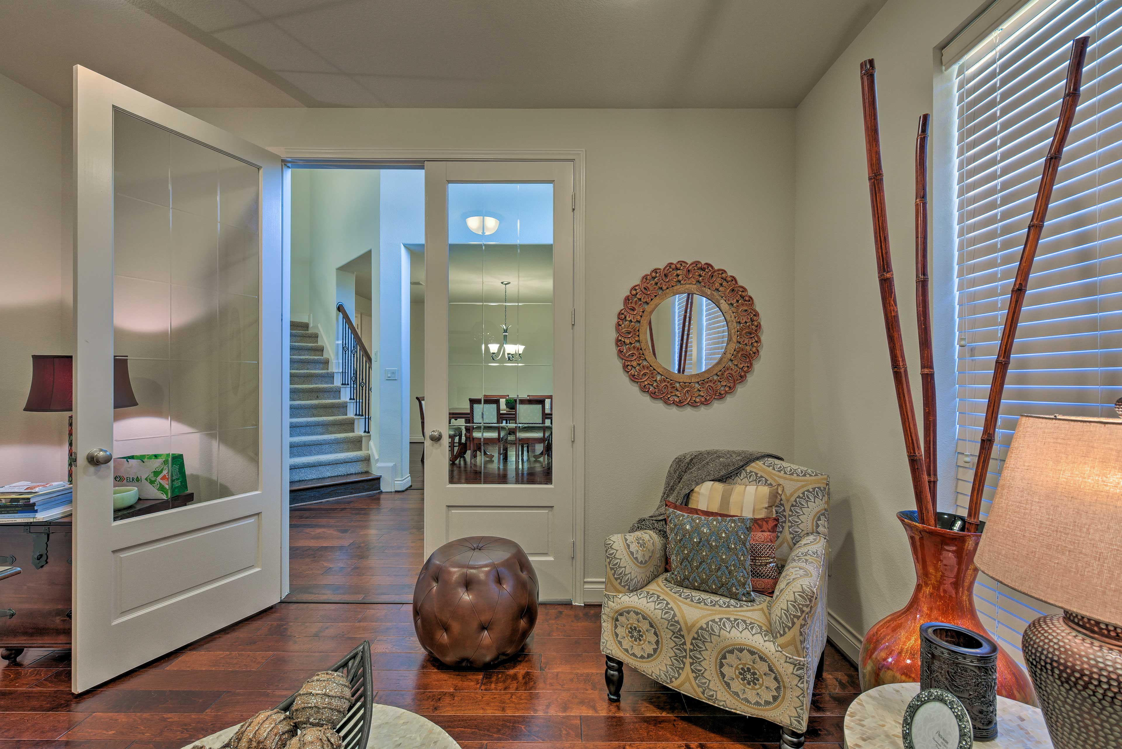The property is located in an exclusive, upscale neighborhood.