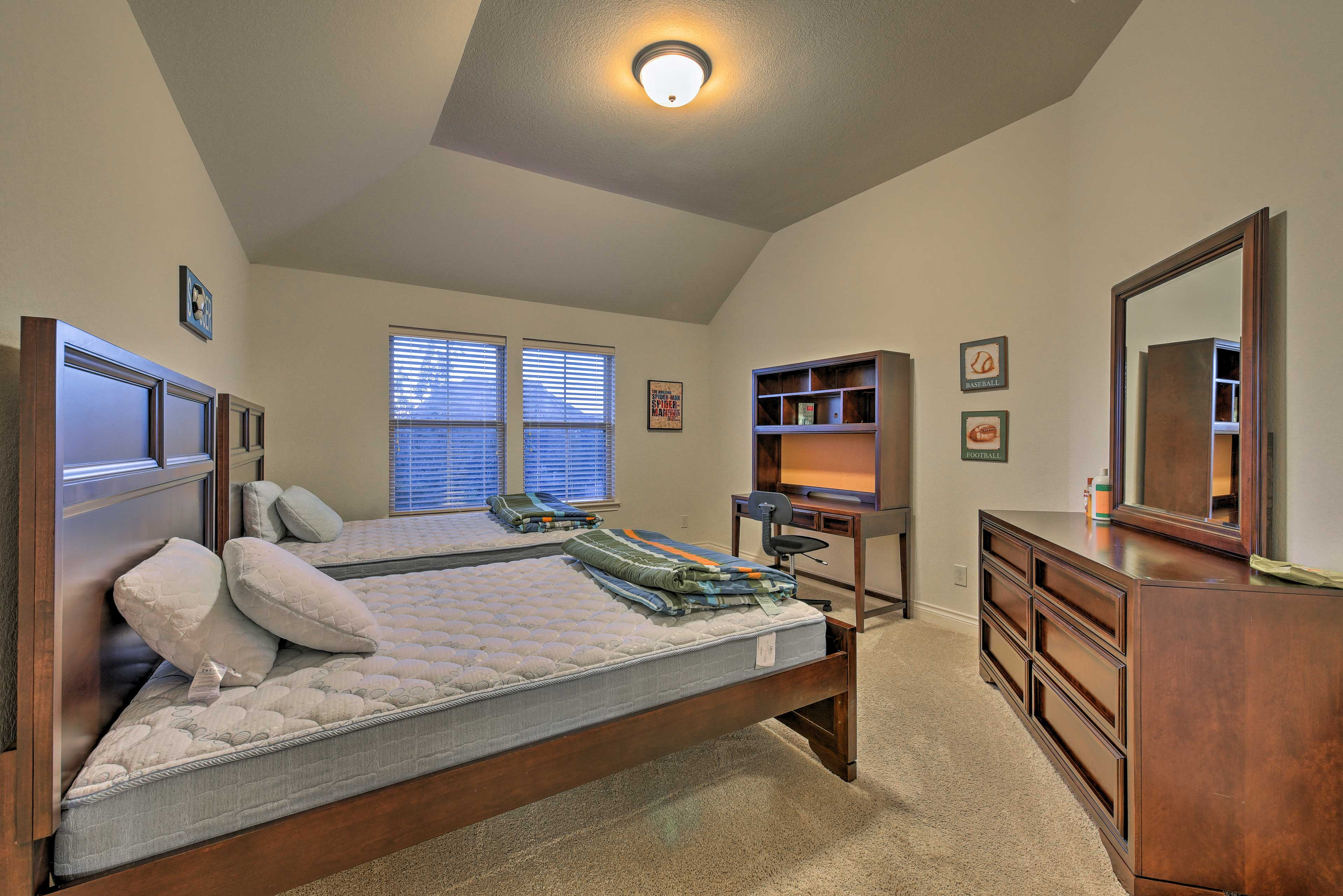 With 2 full beds, this room can sleep 4.