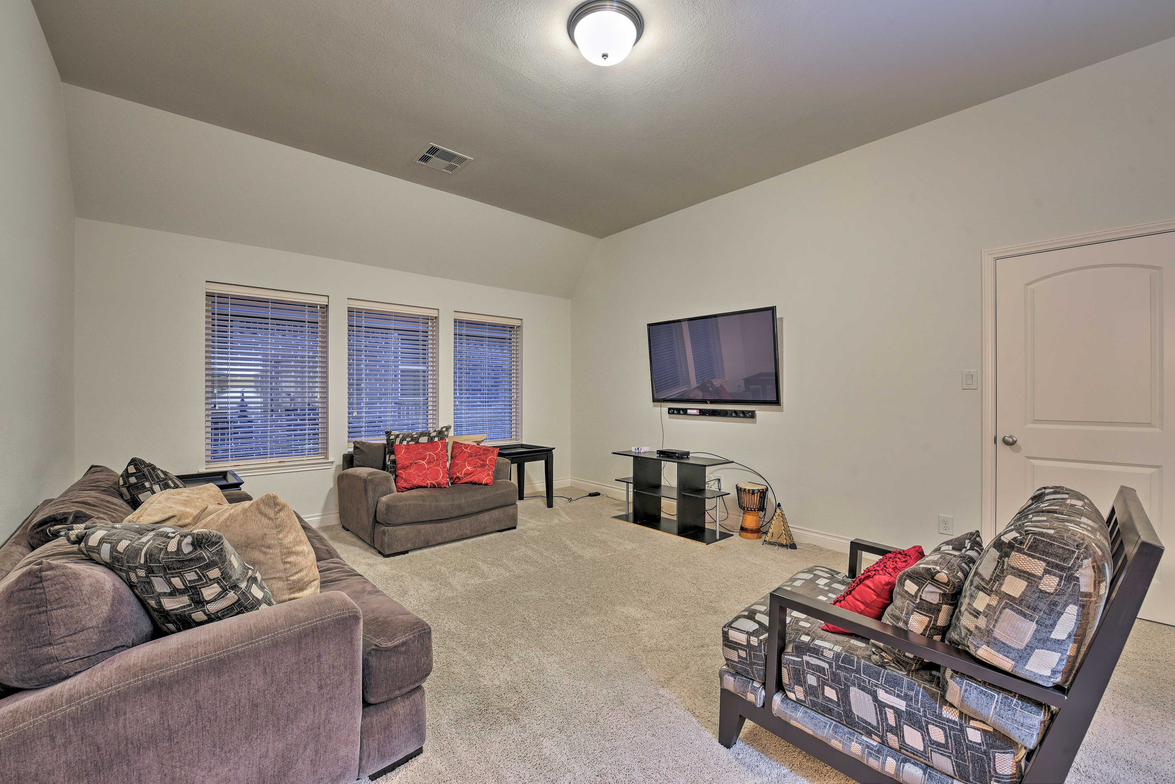 Kick back and relax in the second living room for family movie night!