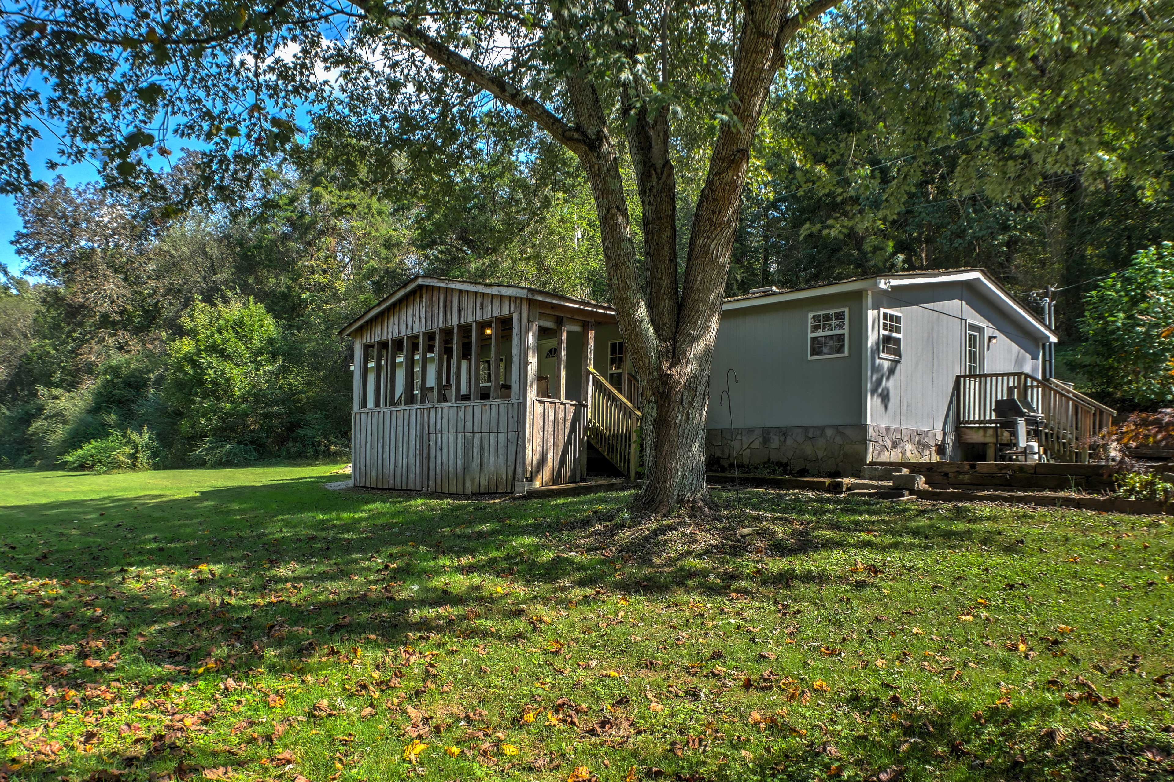 This 3-bedroom, 2-bath home offers 6 guests accommodations with creek access.