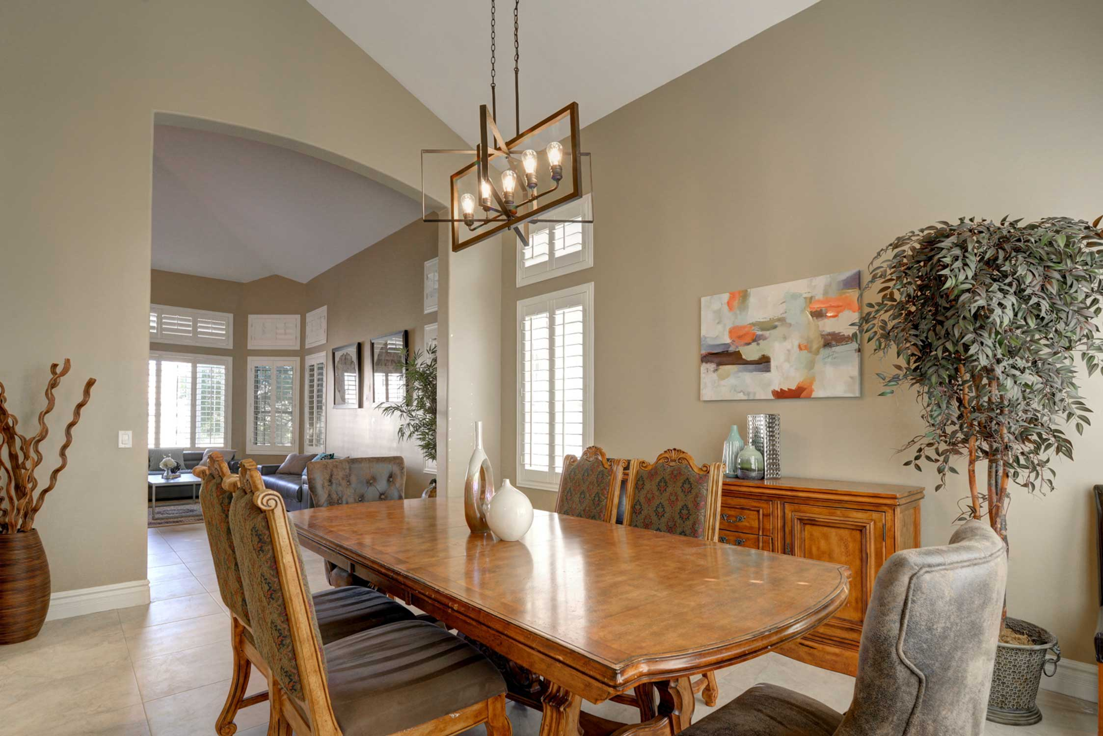 Enjoy modern and luxurious amenities - including this elegant dining table!