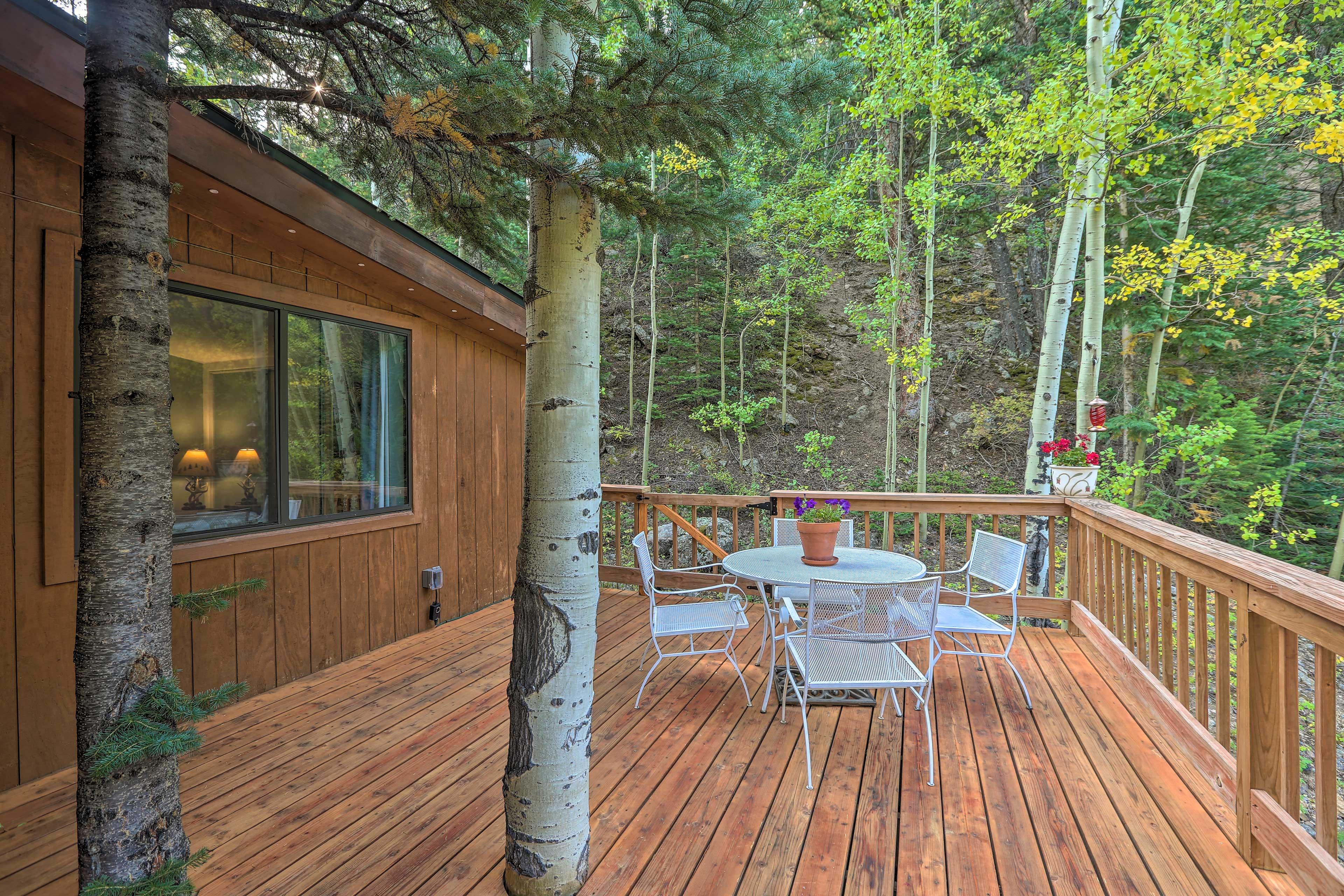 Enjoy evenings on the deck.