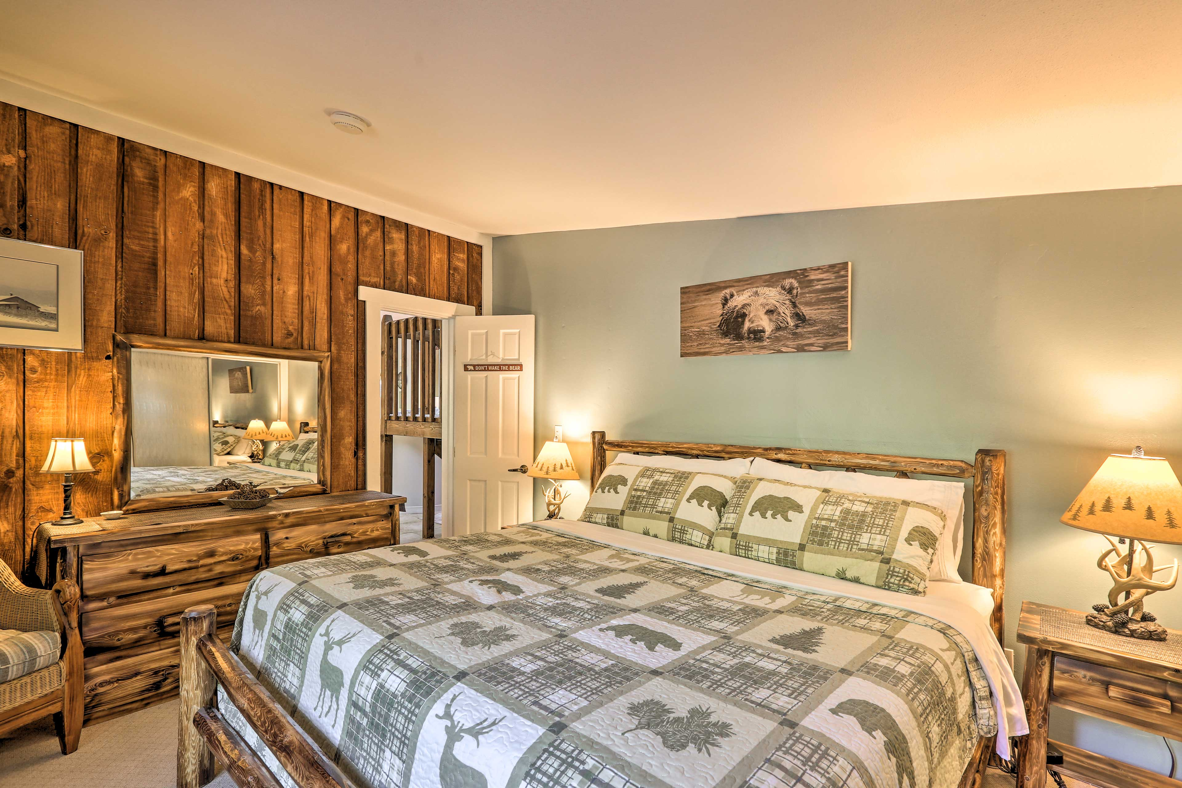 The second bedroom offers a king bed.