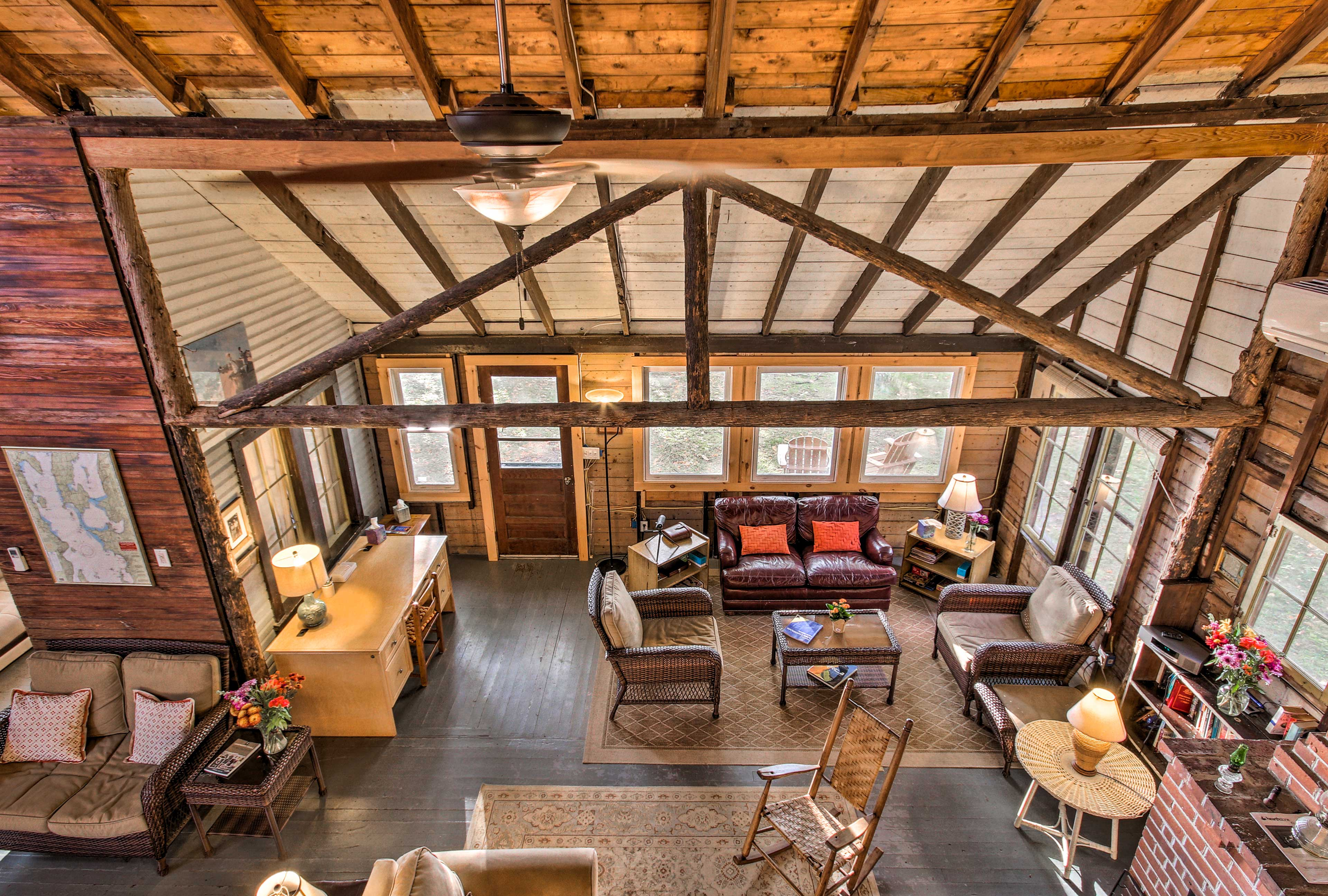 Three bedrooms are located in the 2nd story loft of this 1,850-square-foot home.