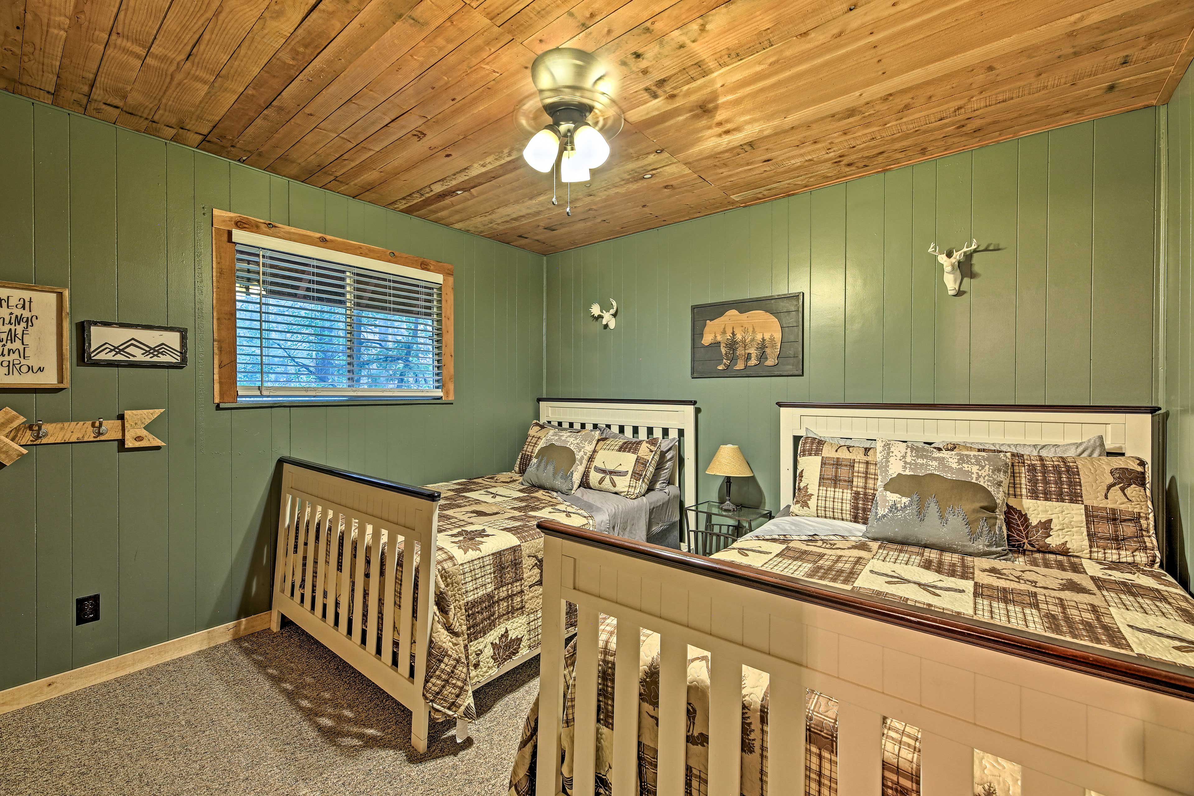 Bedroom 2 | 2 Full Beds | Main Floor