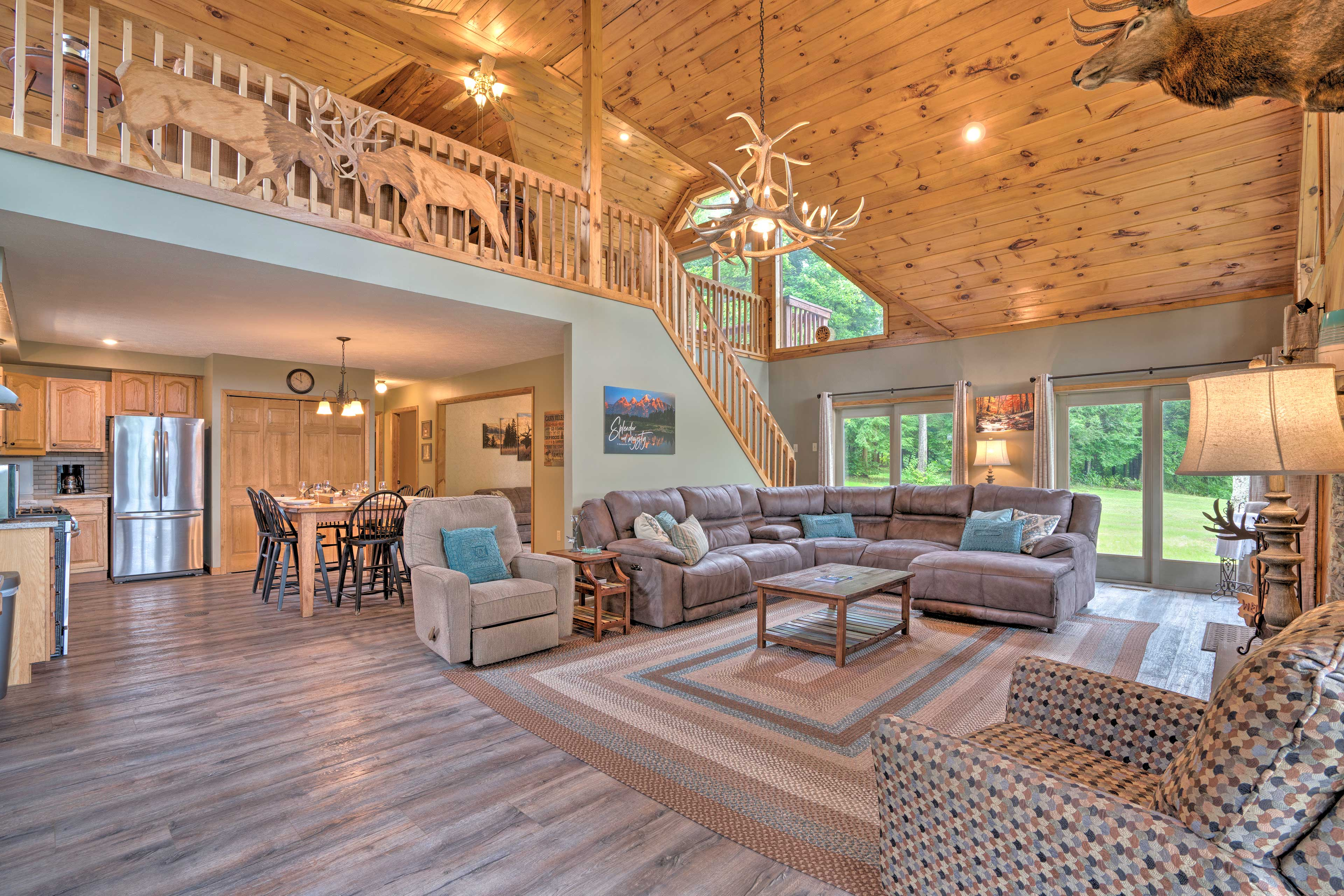 The vaulted ceilings are a dream!