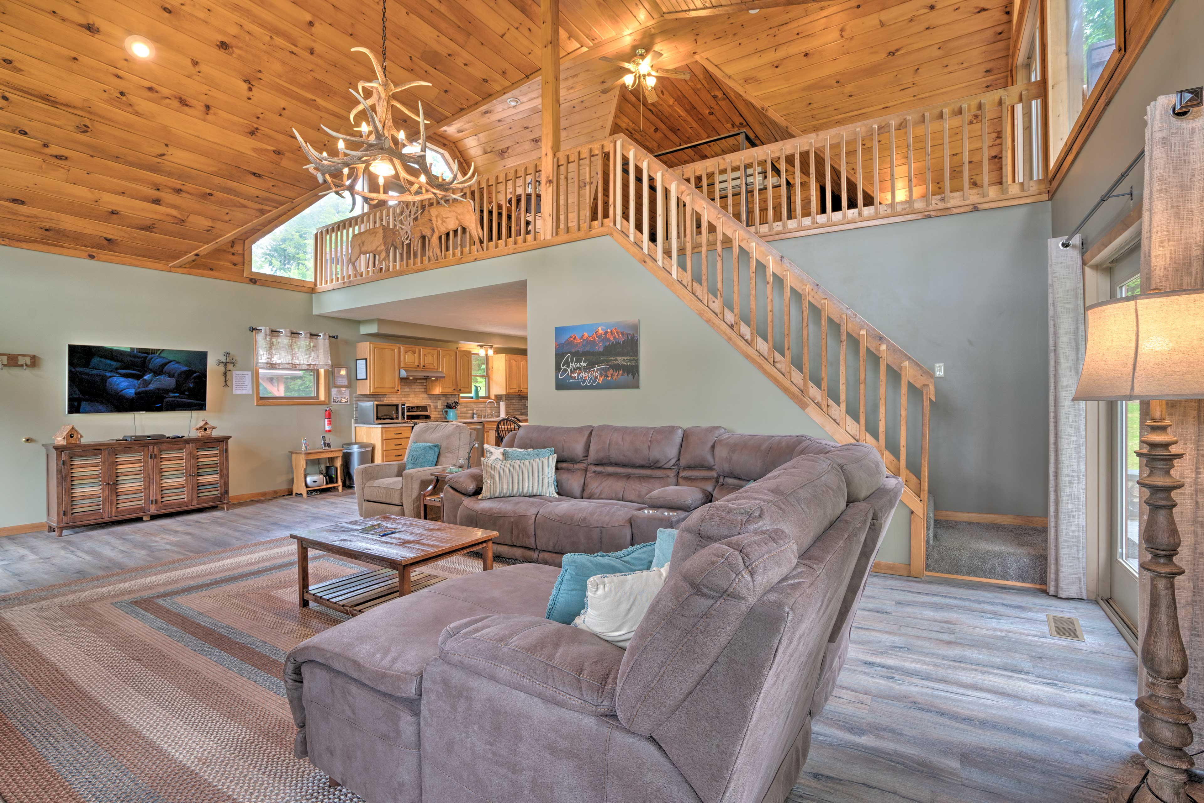 You'll feel right at home in the living area.