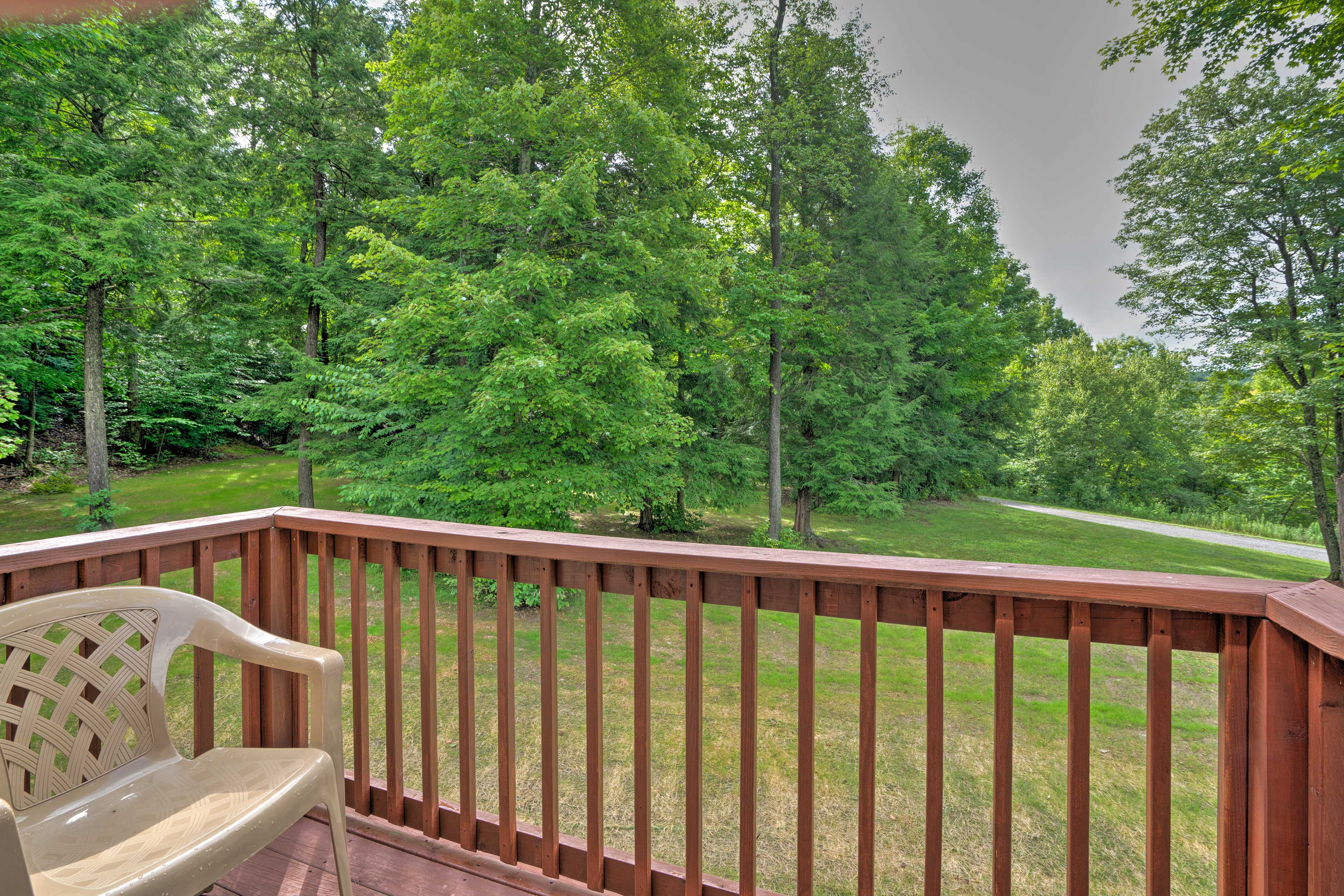 Enjoy the private deck right off the loft!