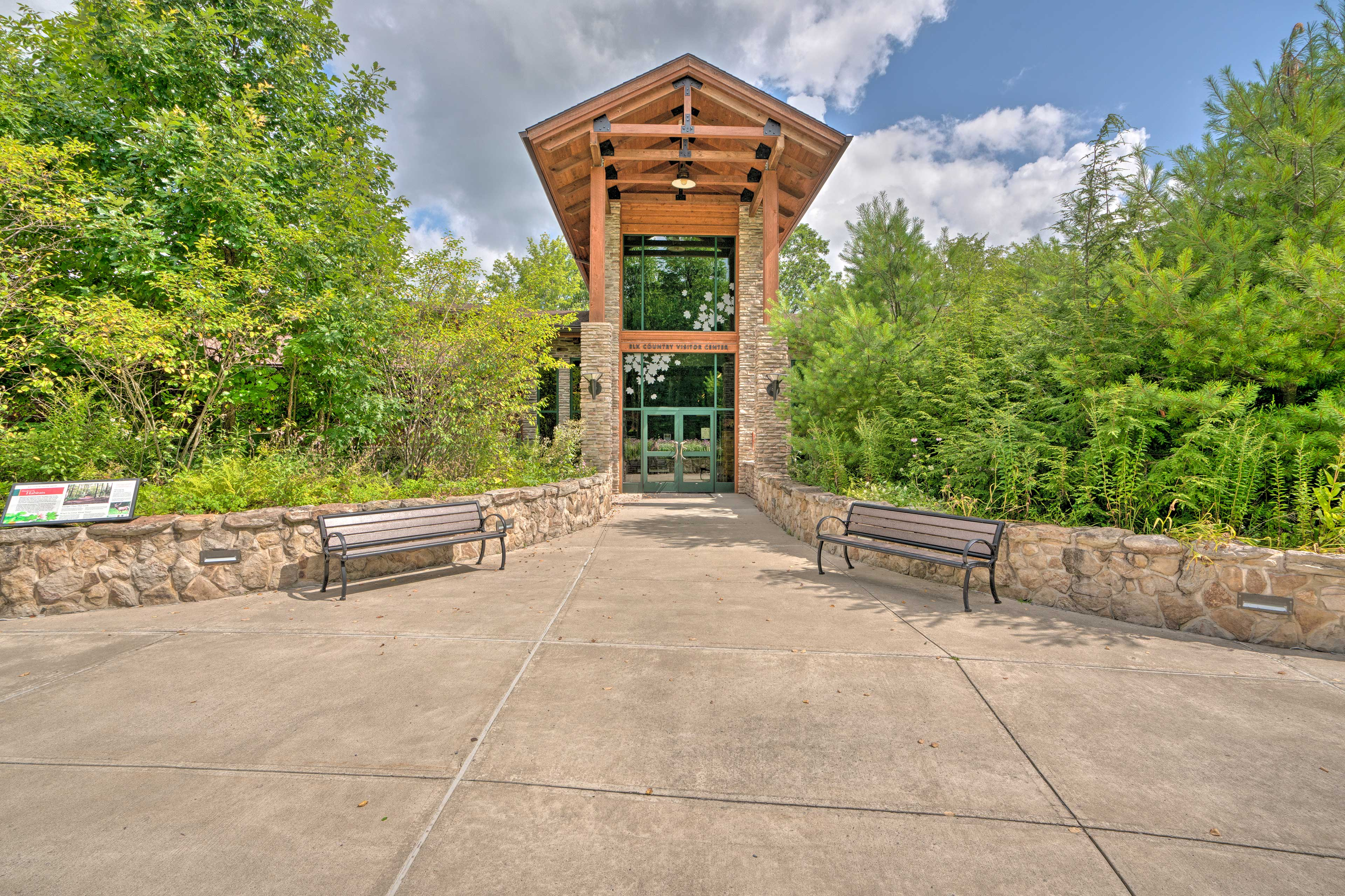Head to the visitor center to explore the area.